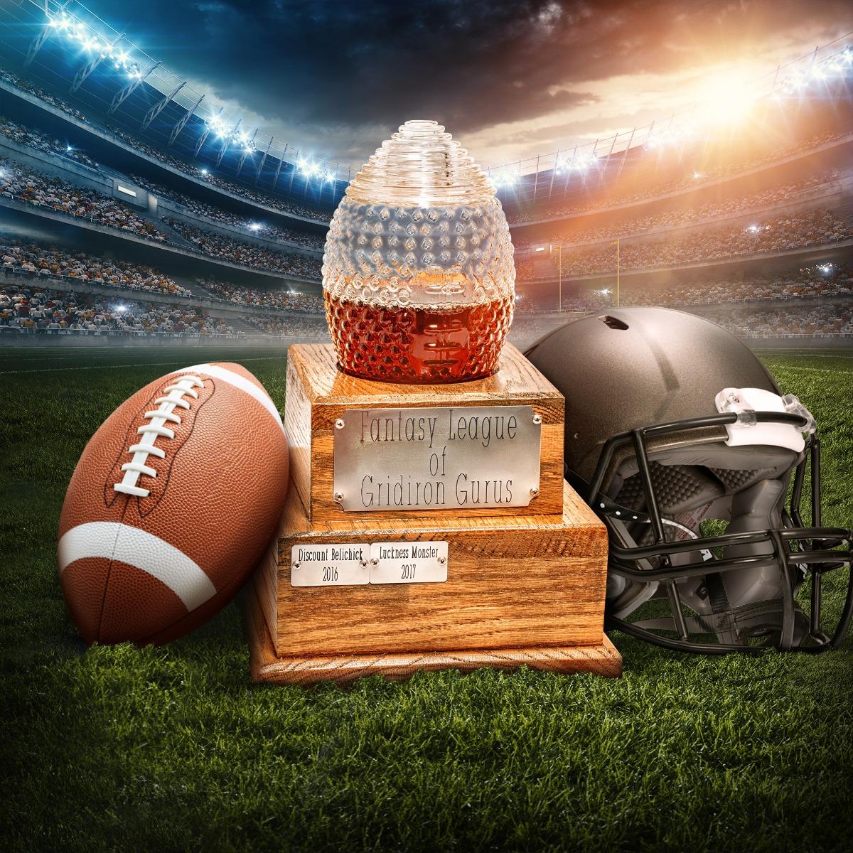 Beautiful Fantasy Football Trophy decanter