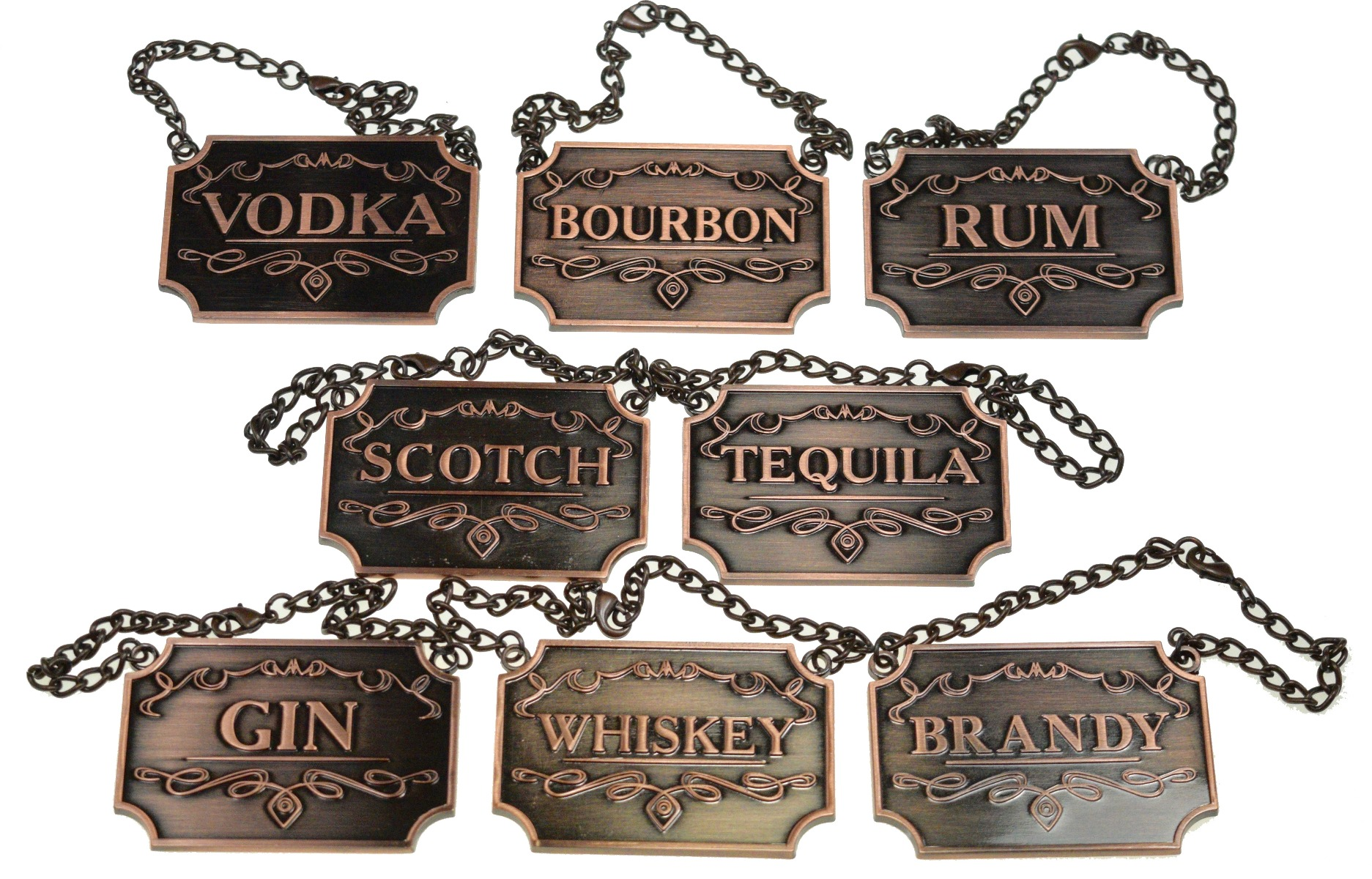 Copper Whiskey decanter labels