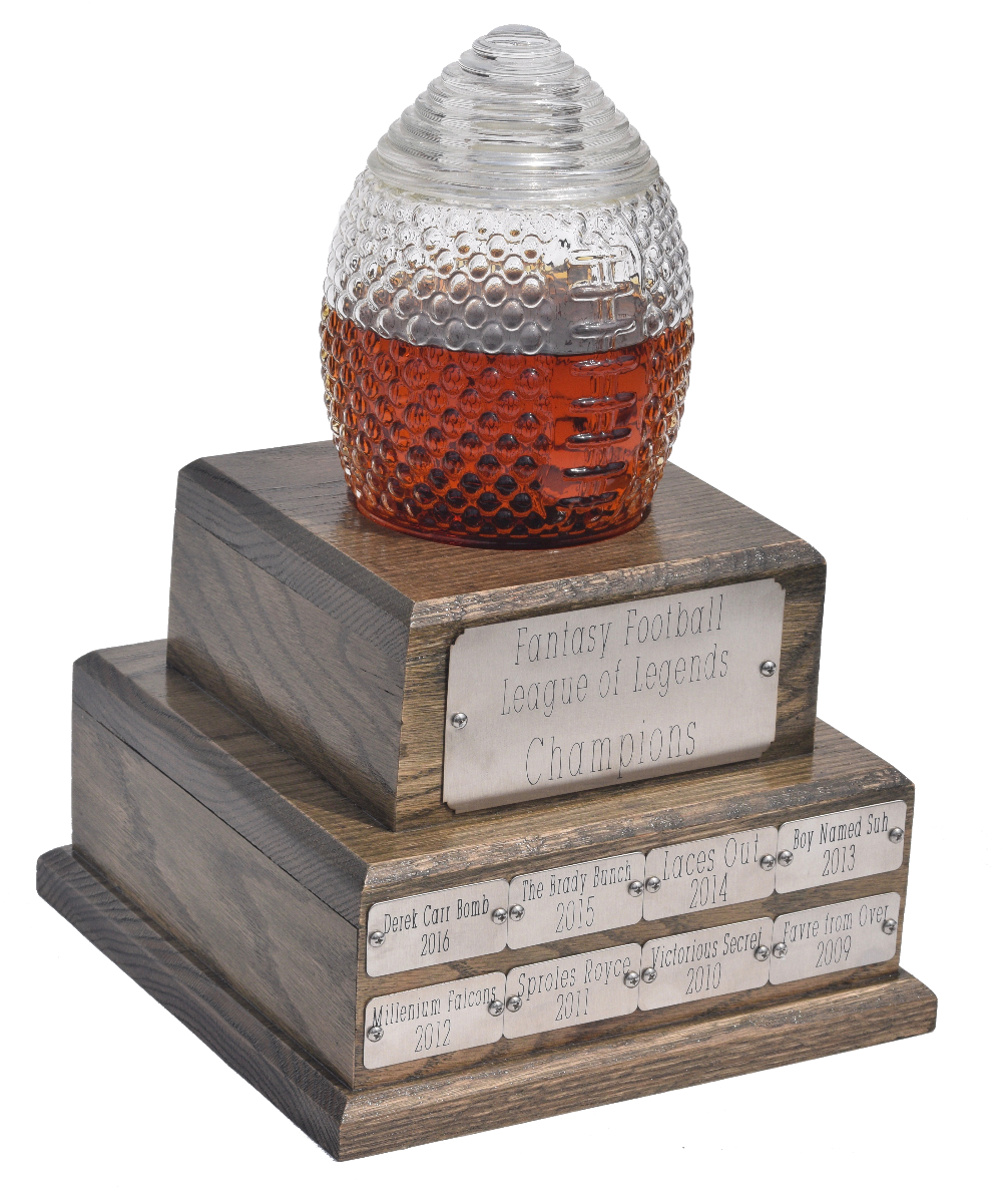 Prestige Decanters Customized football-shaped trophy decanter