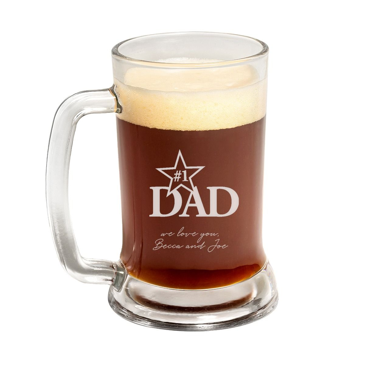 #1 Dad Father's Day Beer Mug