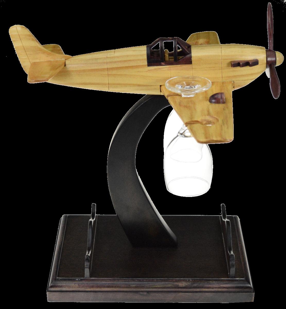 Vino hangar, airplane bottle holder