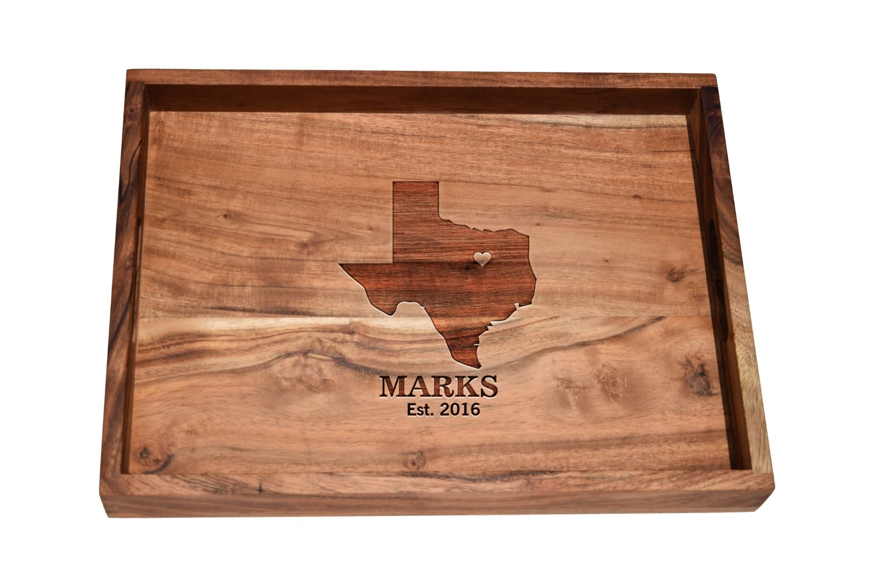 Bar tray with home town love design