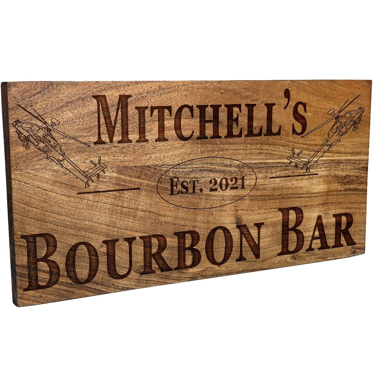 Helicopter Bar Sign