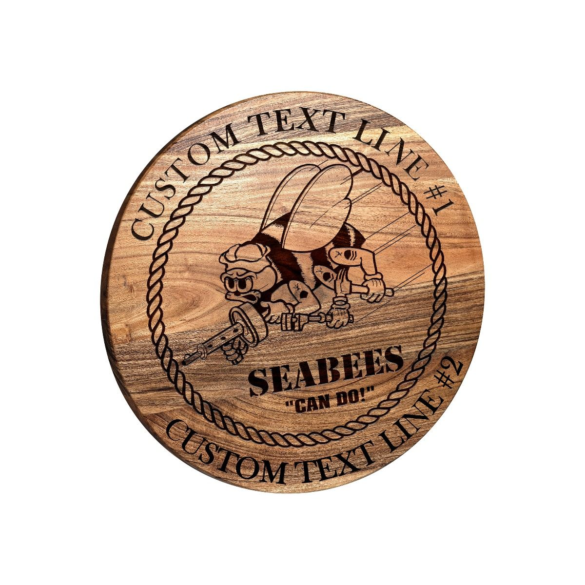 Seabees Round Bar Sign