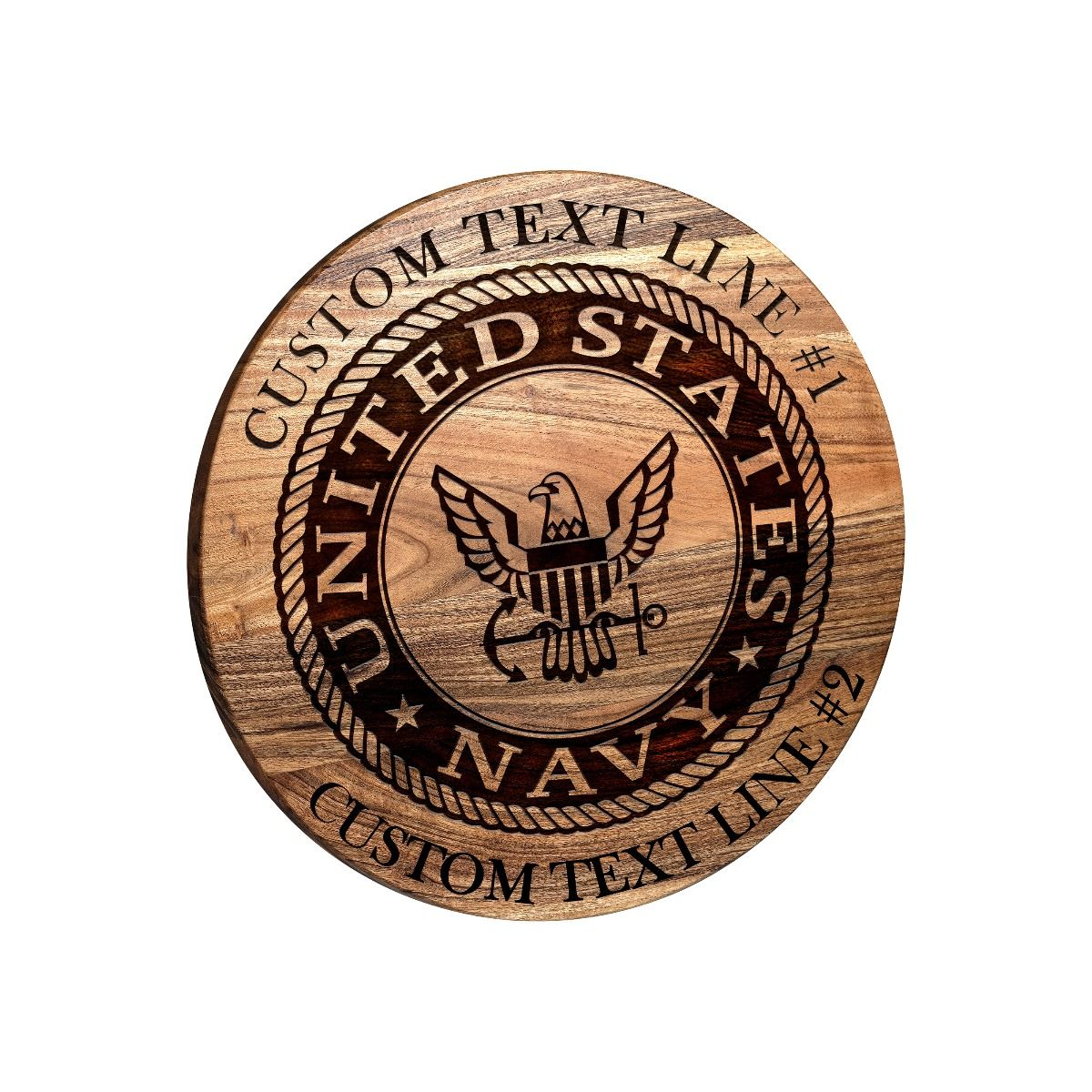 Navy Emblem Bar Sign