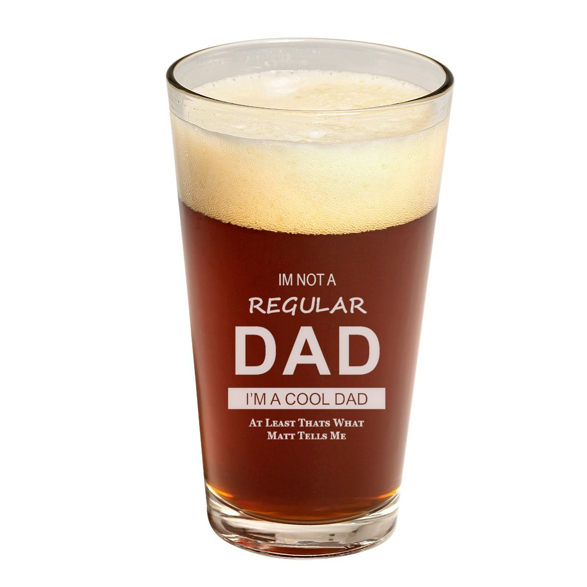 Father's day cool dad pint glass