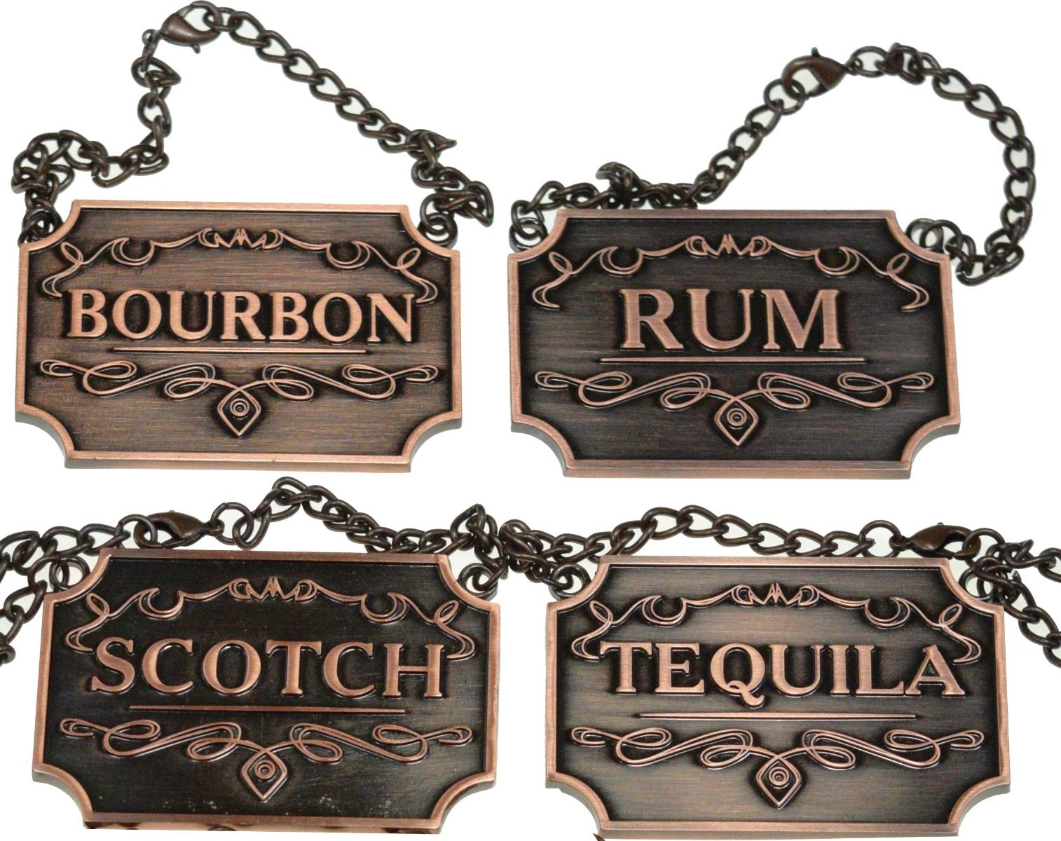 Copper Liquor Labels for decanters