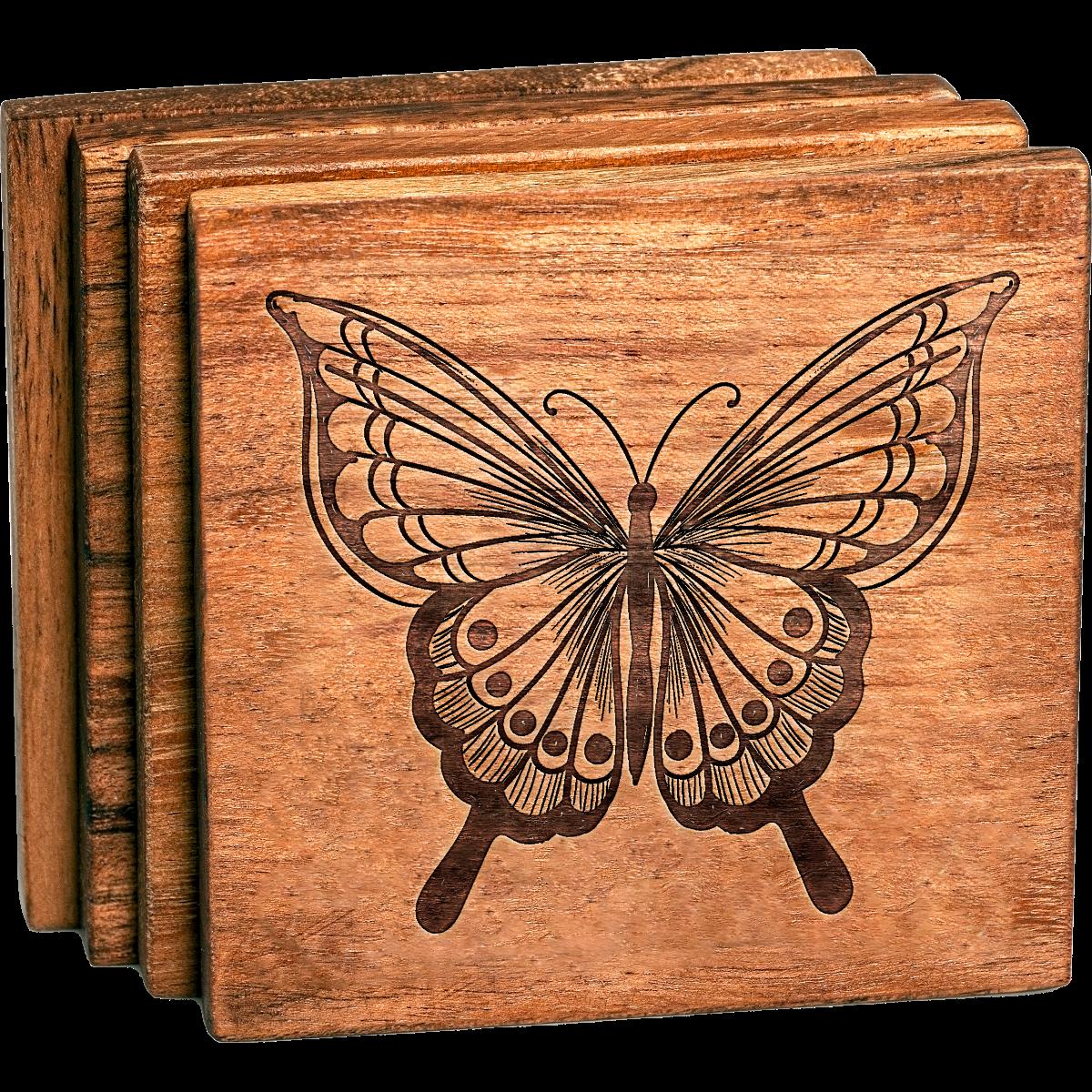 Beautiful Butterfly Coaster Set