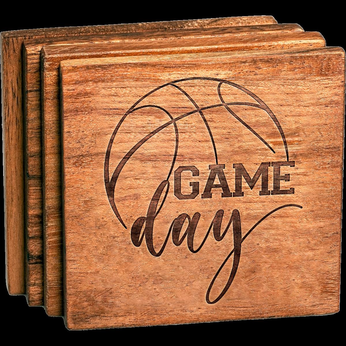 Basketball Game Day Coaster Set