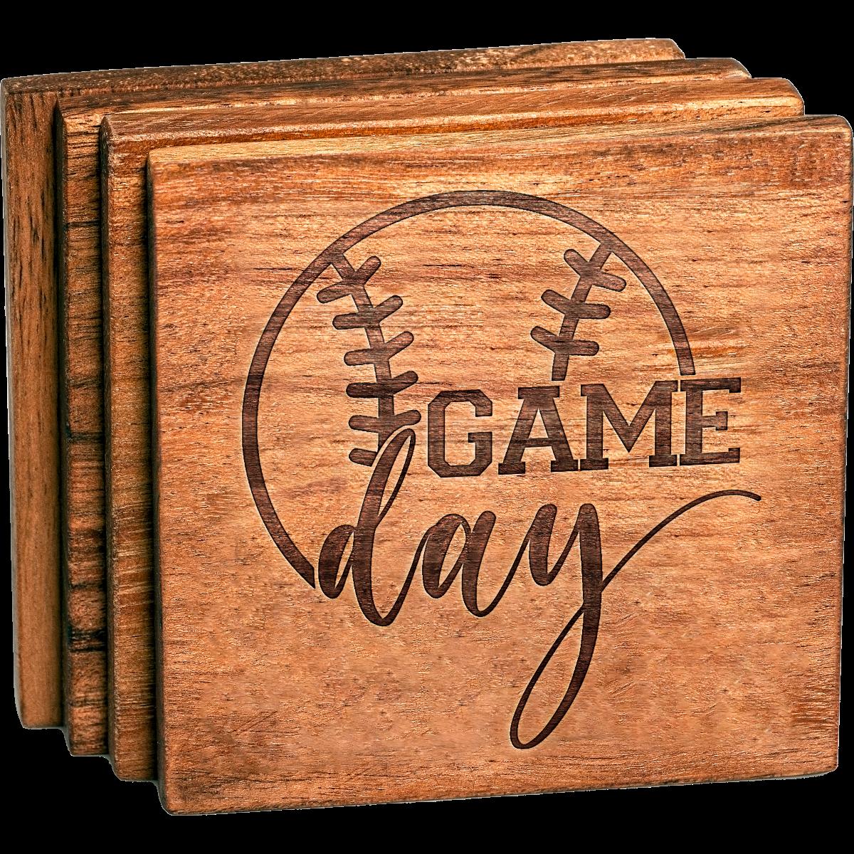 Baseball Game Day coaster set