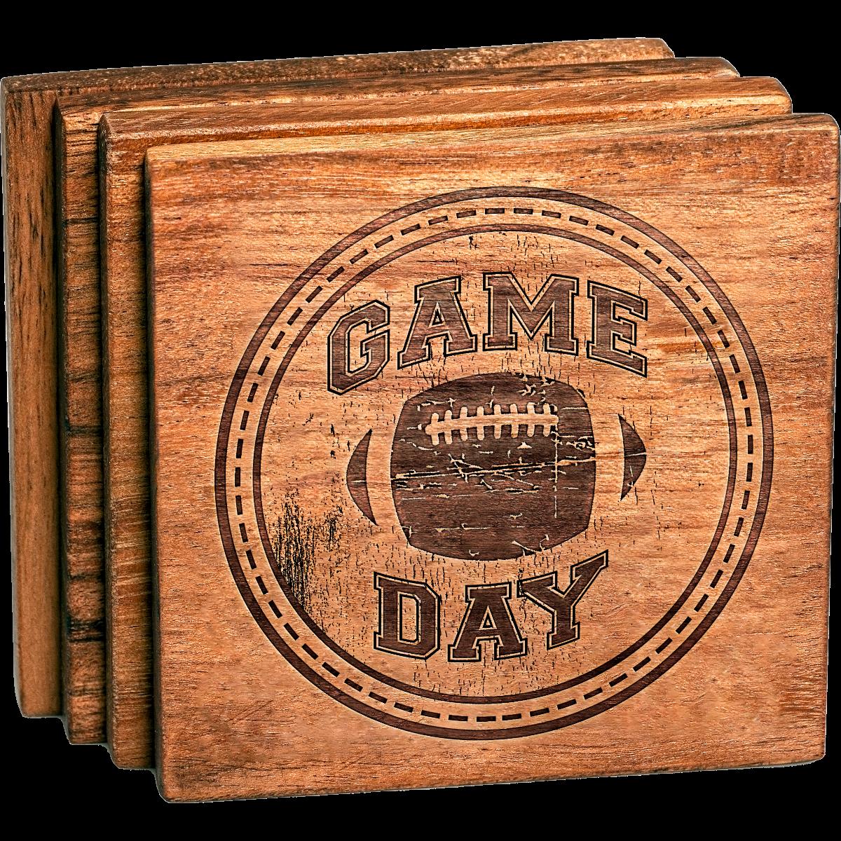 Football Game Day Coaster Set