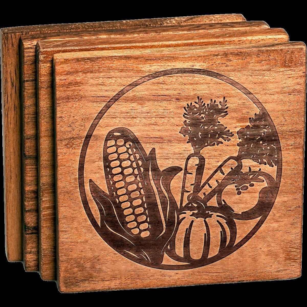 Farm Veggies Coaster Set
