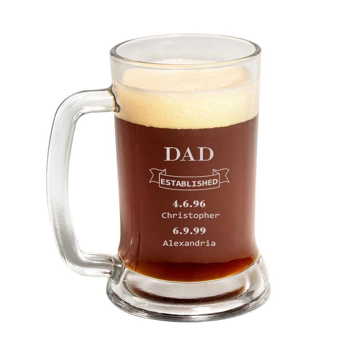 Dad EST. Father's day Beer Mug