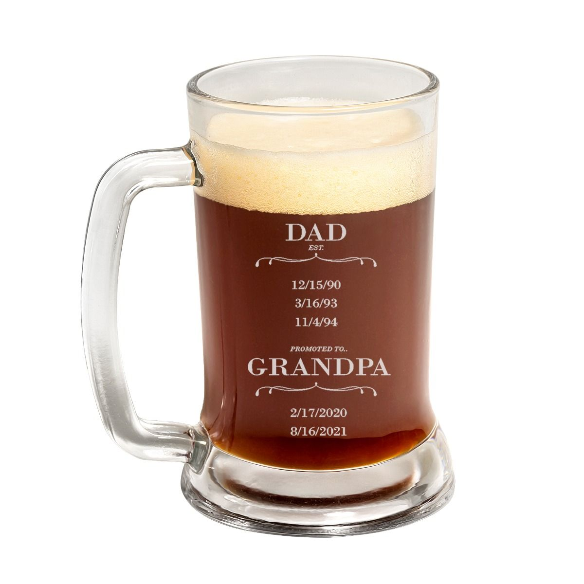 promoted to grandpa father's day beer mug
