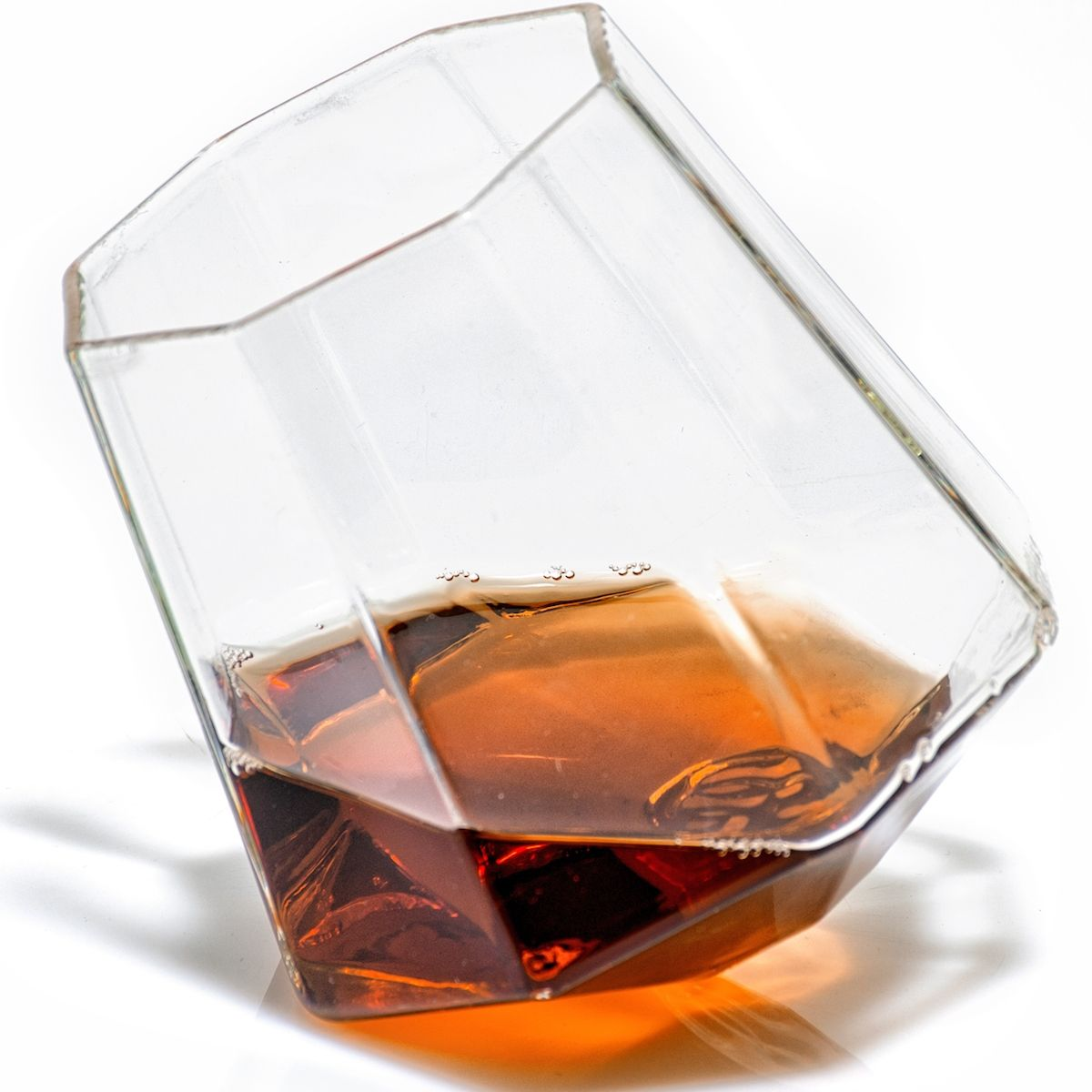 Diamond-shaped whiskey glasses