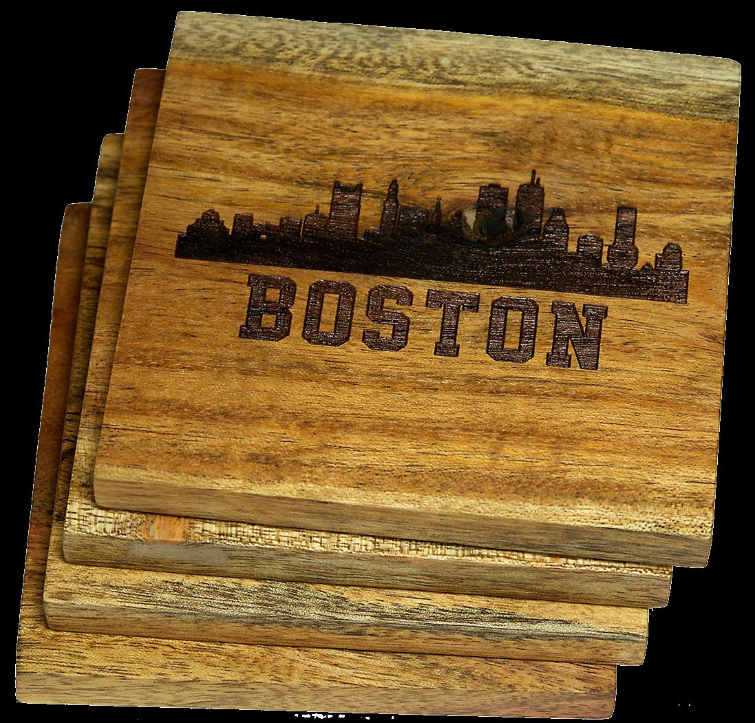 Boston Coaster Set Boston Skyline