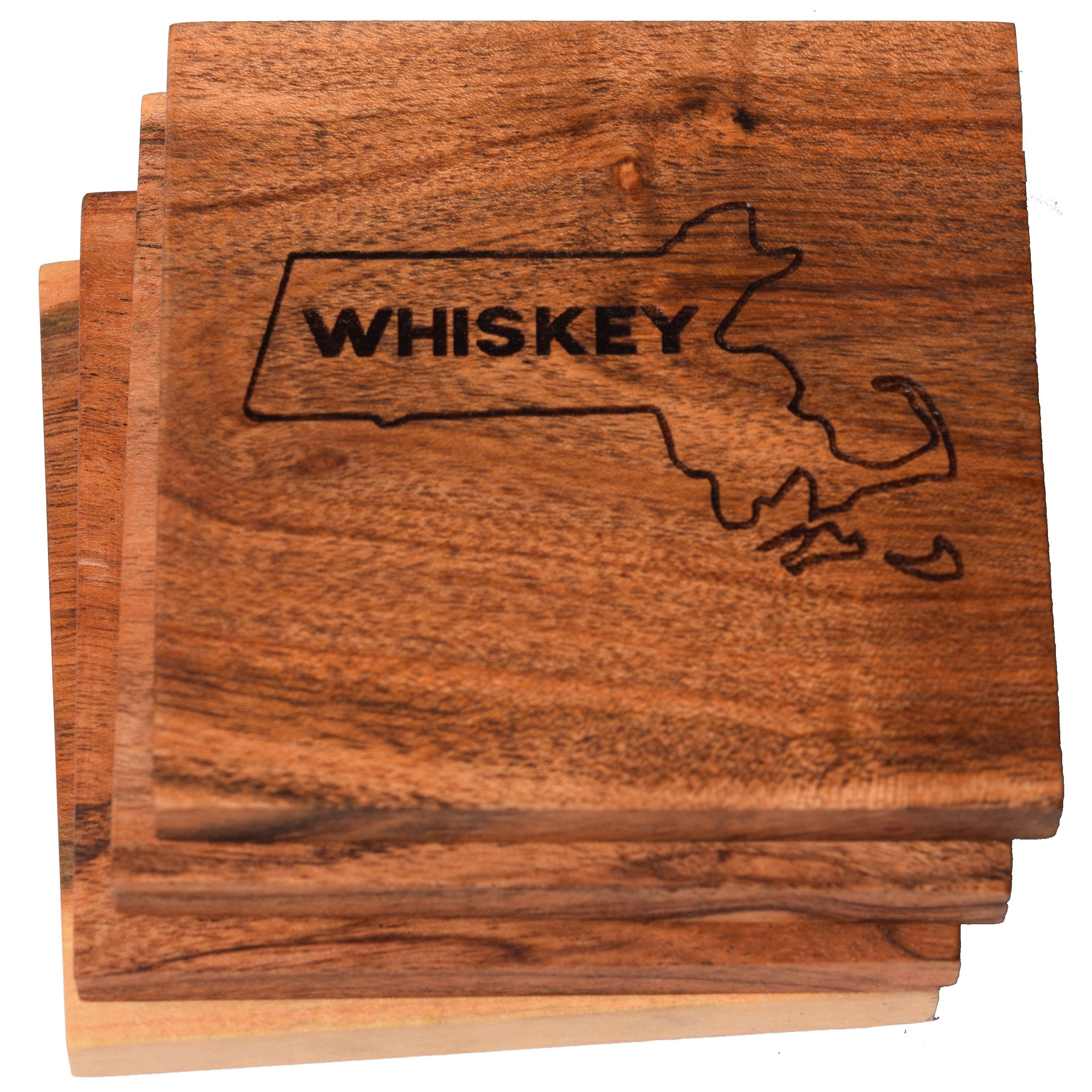 Boston Coaster Set Boston Whiskey