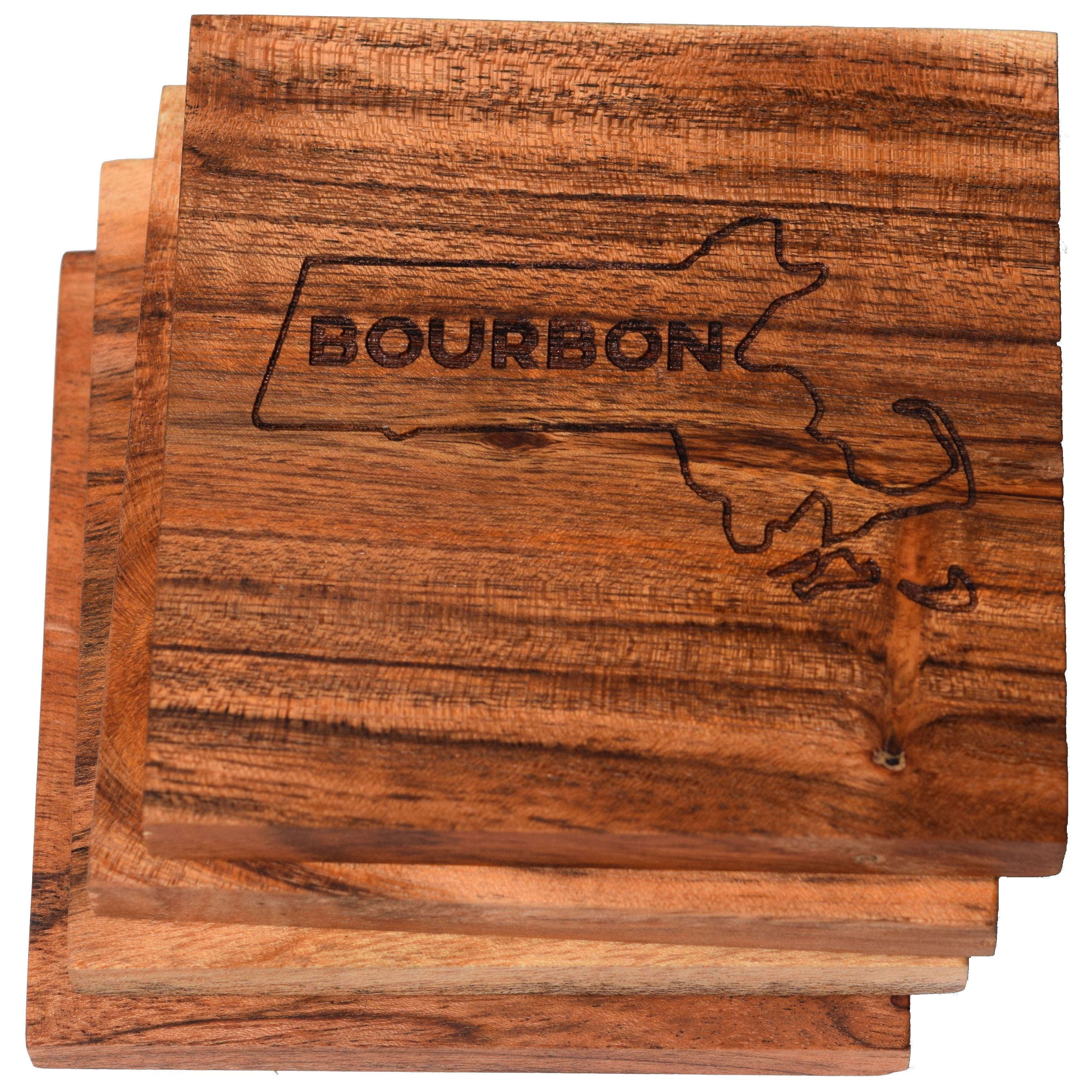 Boston Coaster Set I Love Boston Bourbon