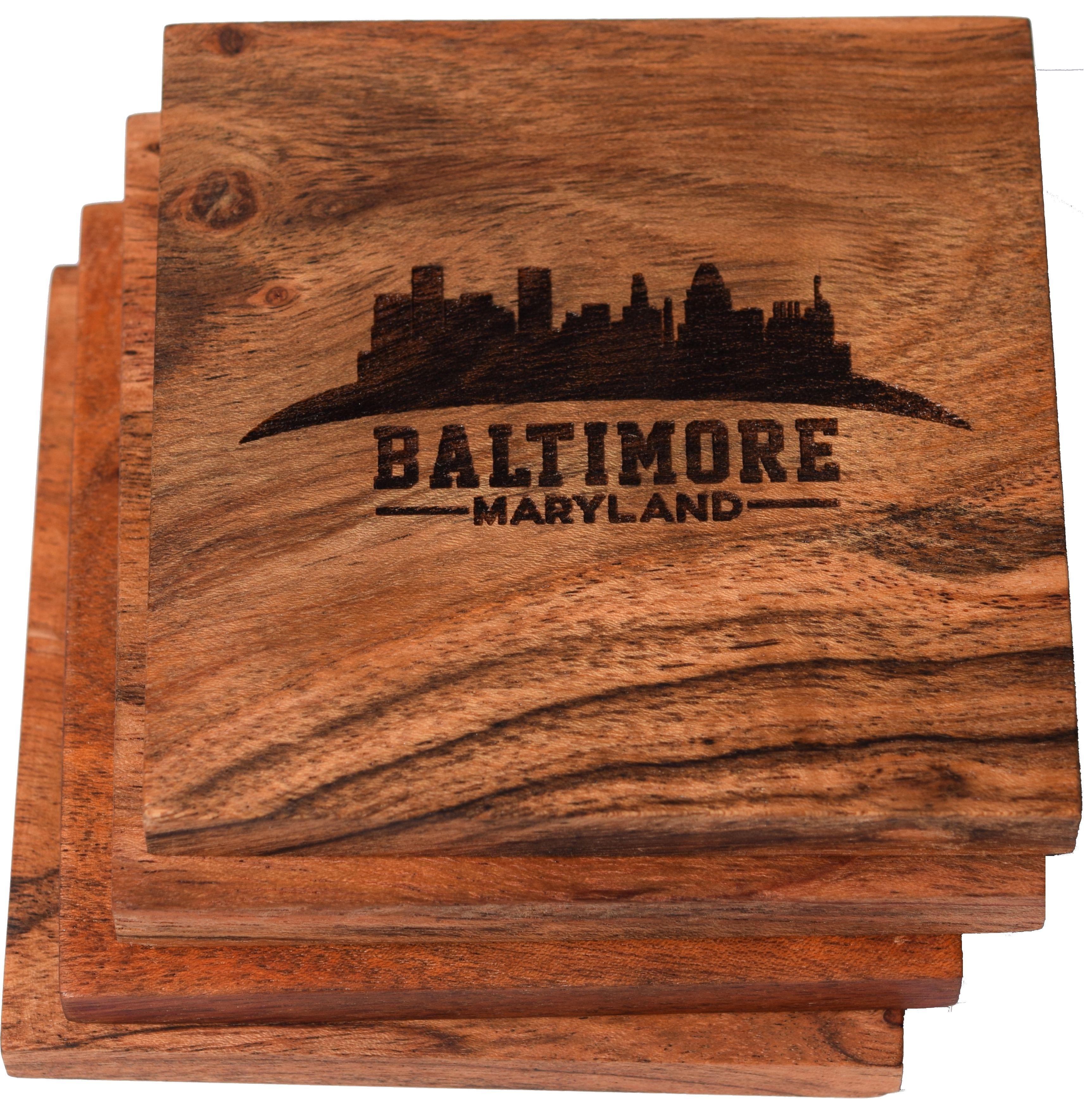 Baltimore Coaster Set Baltimore Skyline Set