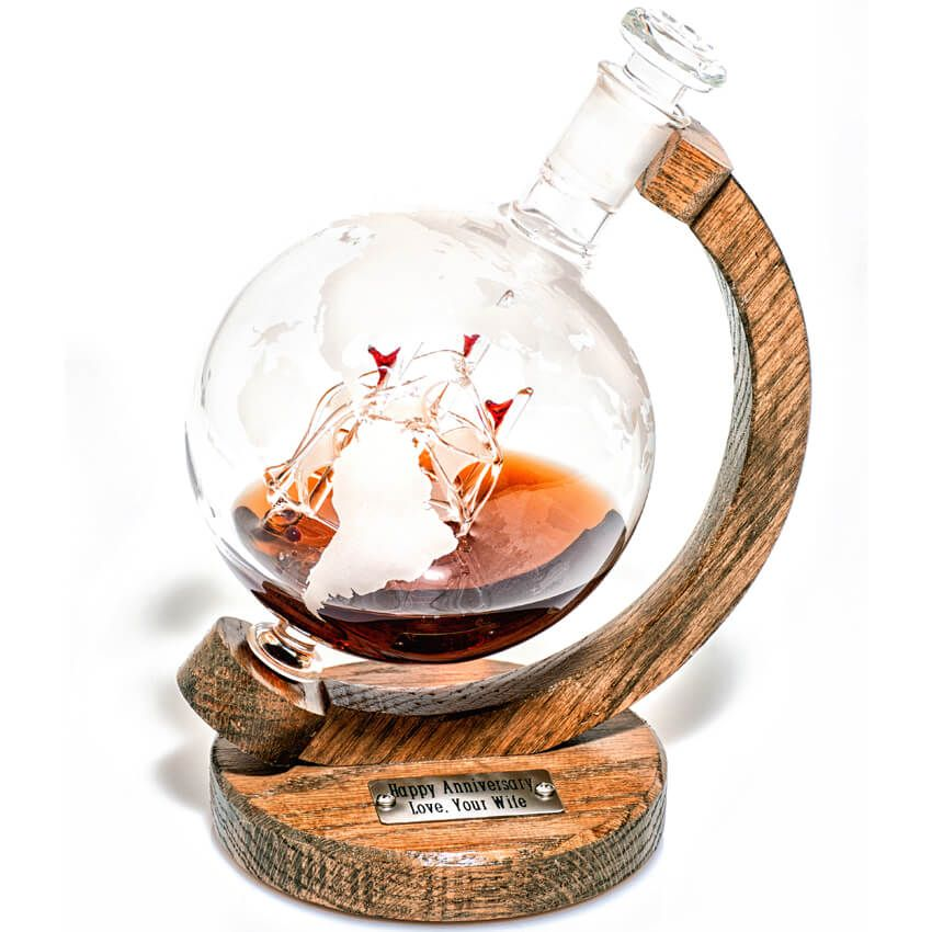 Engraved Magellan's Victoria Decanter for bourbon whiskey
