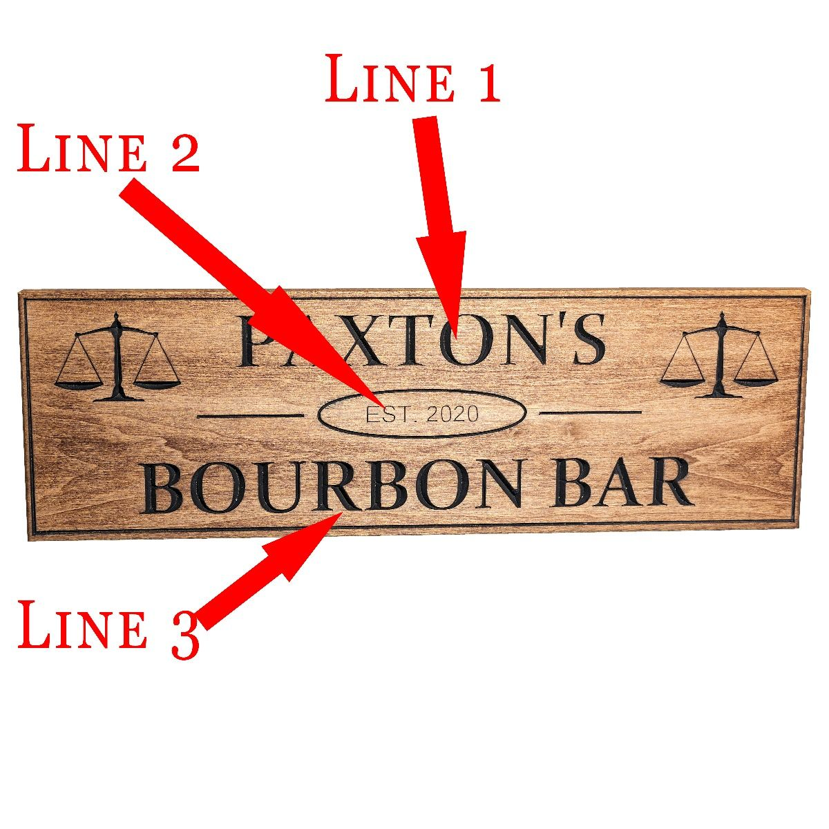 Engraved Wooden Lawyer Bar Sign