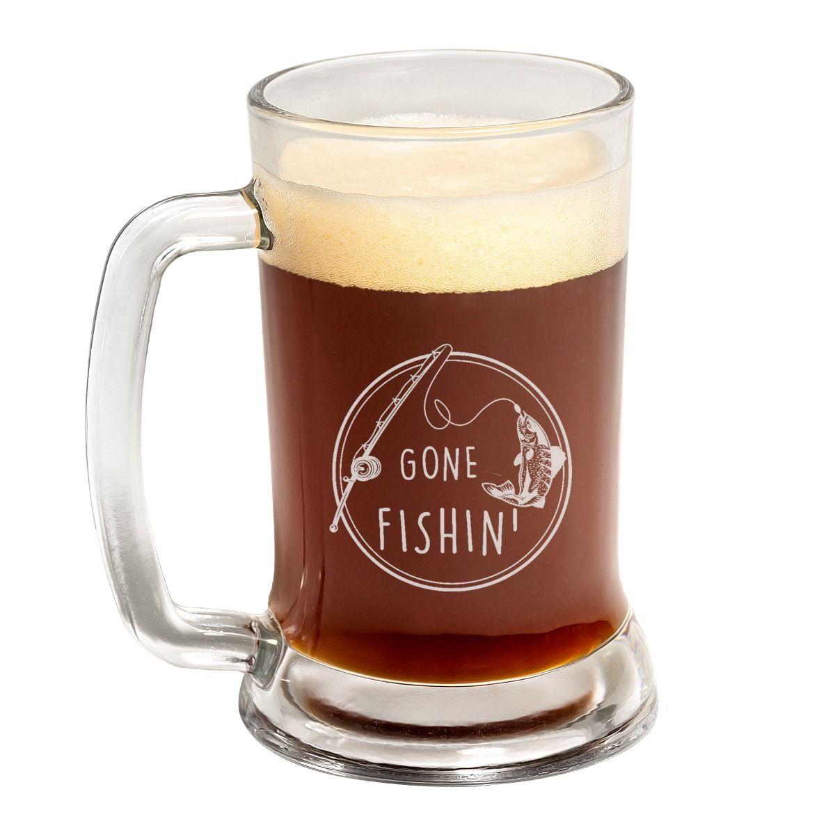 Gone Fishin' Father's Day Beer Mug