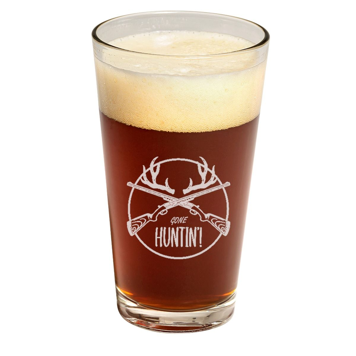 Gone Deer Hunting Father's Day Pint Glass