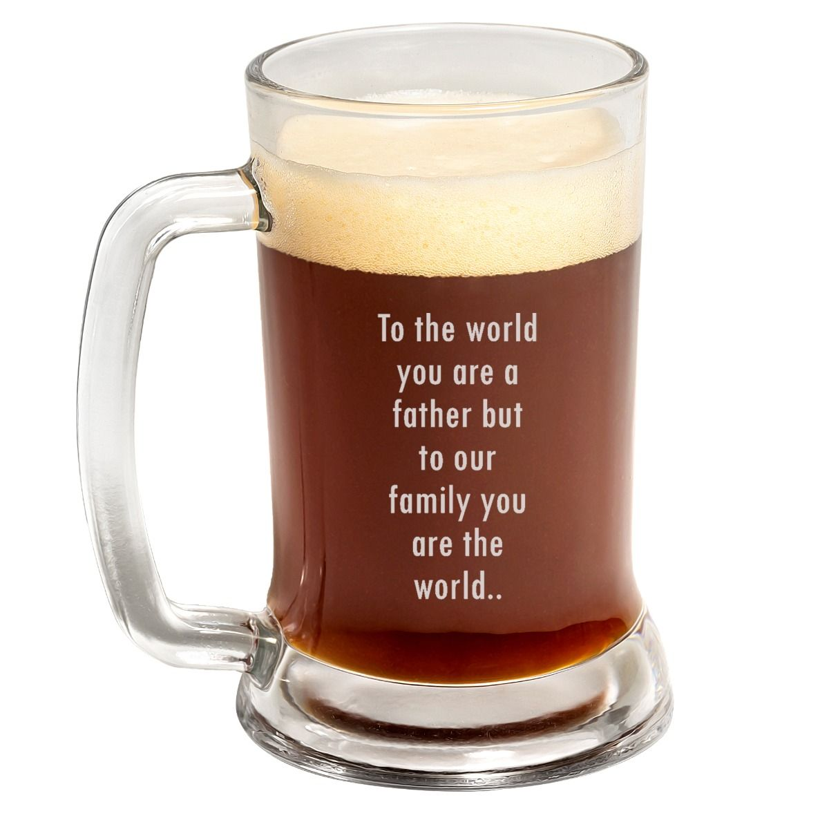 heartfelt Quote Father's Day Beer Mug