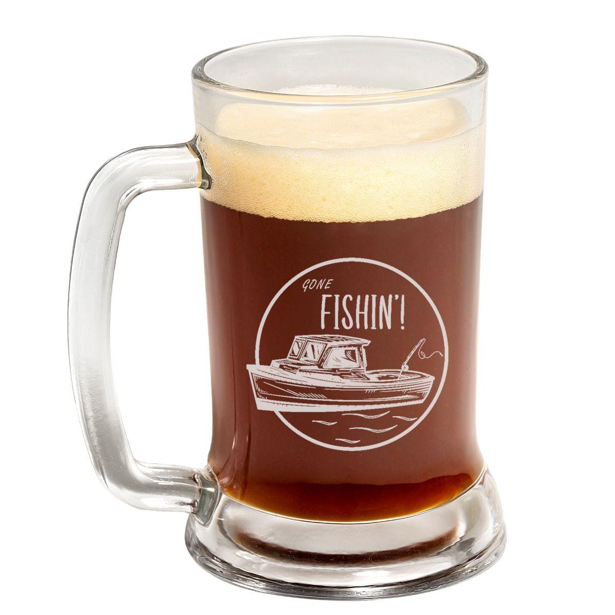 Boat Fishin' Father's Day Beer Mug