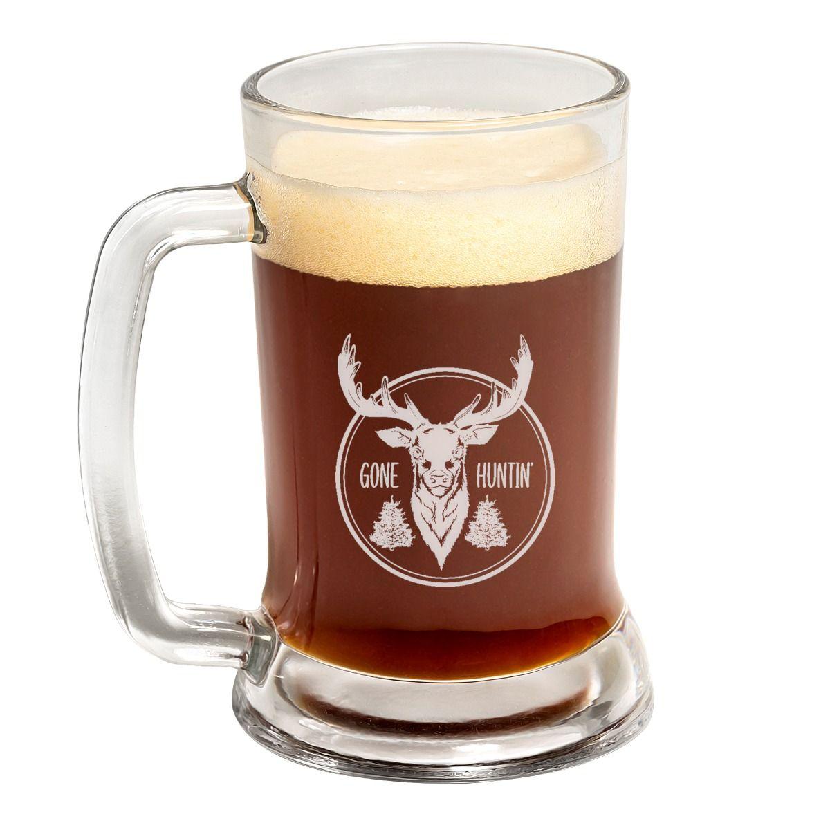Gone Deer Huntin' Father's Day Beer Mug