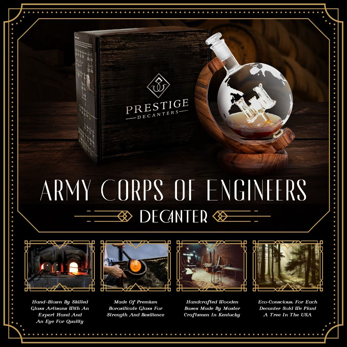 Features of Army Corps of Engineers Decanter