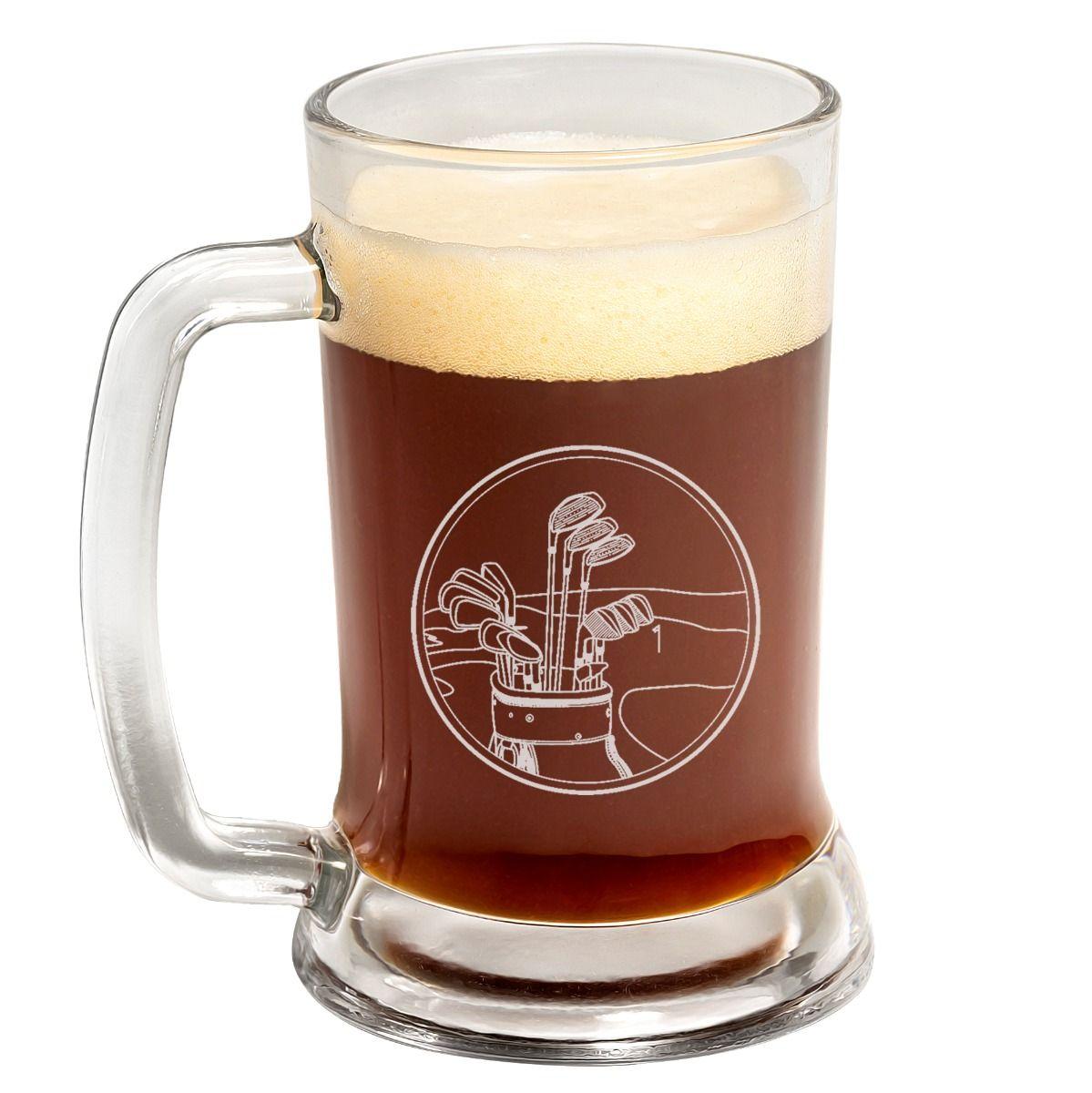 Golf Clubs Fathers Day Beer Mug