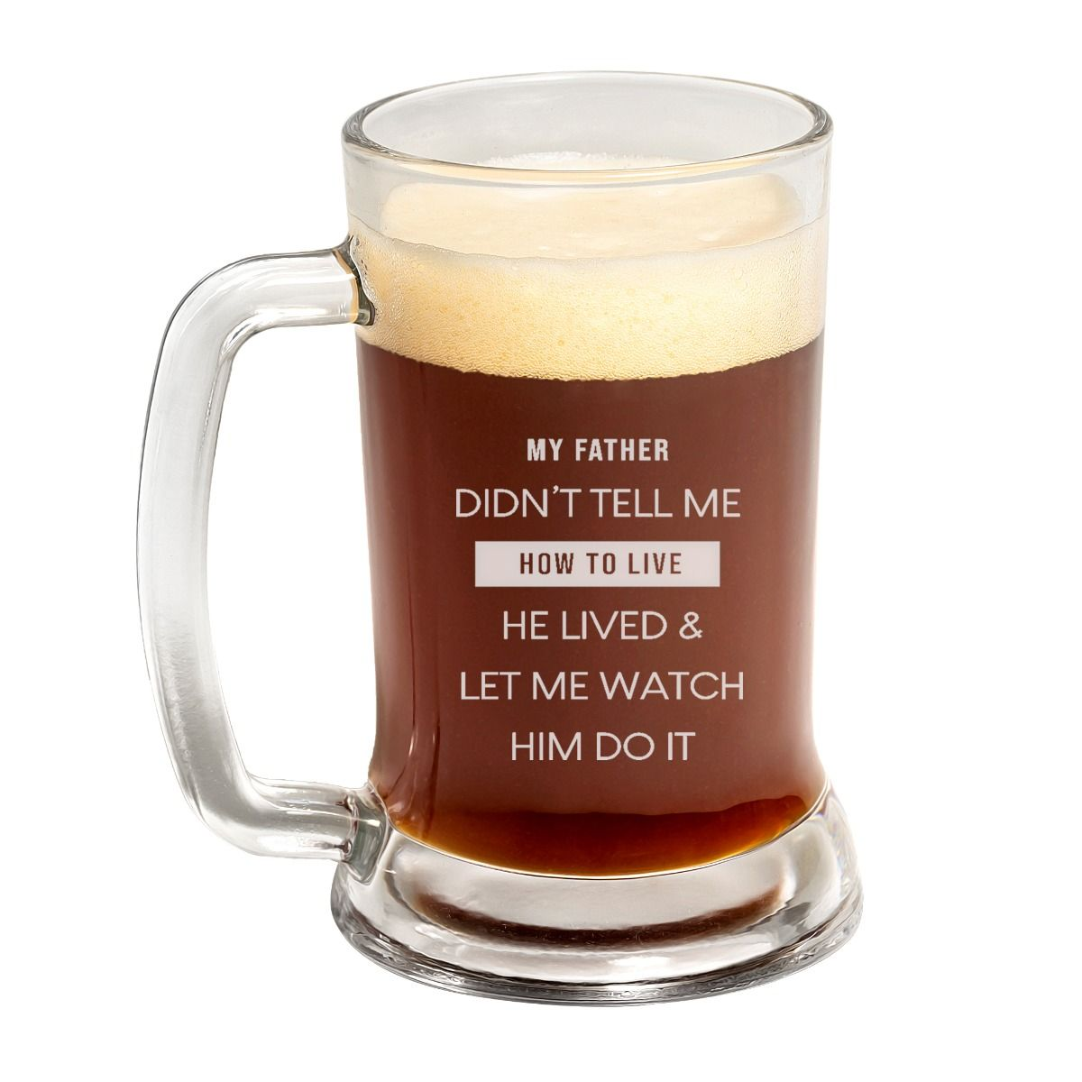 Loving Quote Father's Day Beer Mug