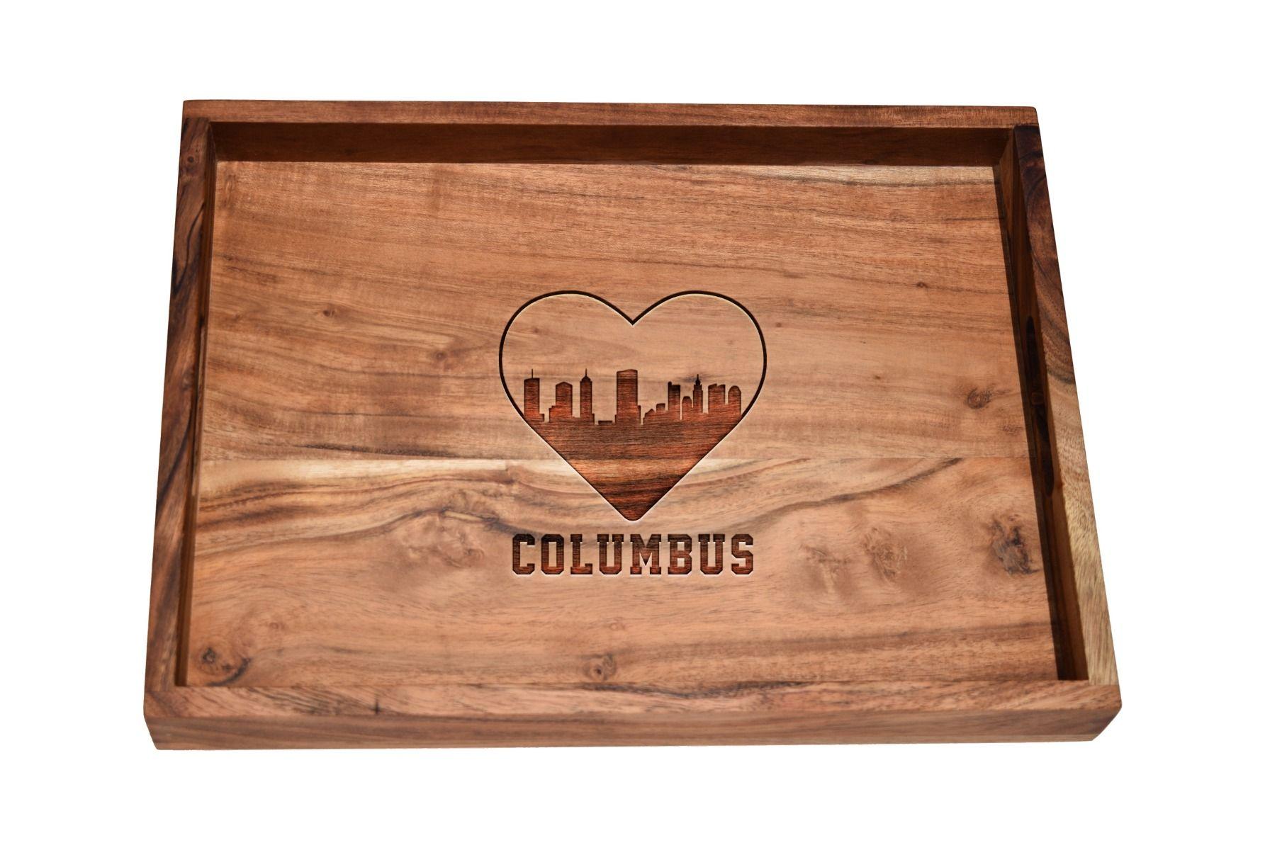 I love Columbus skyline bar tray