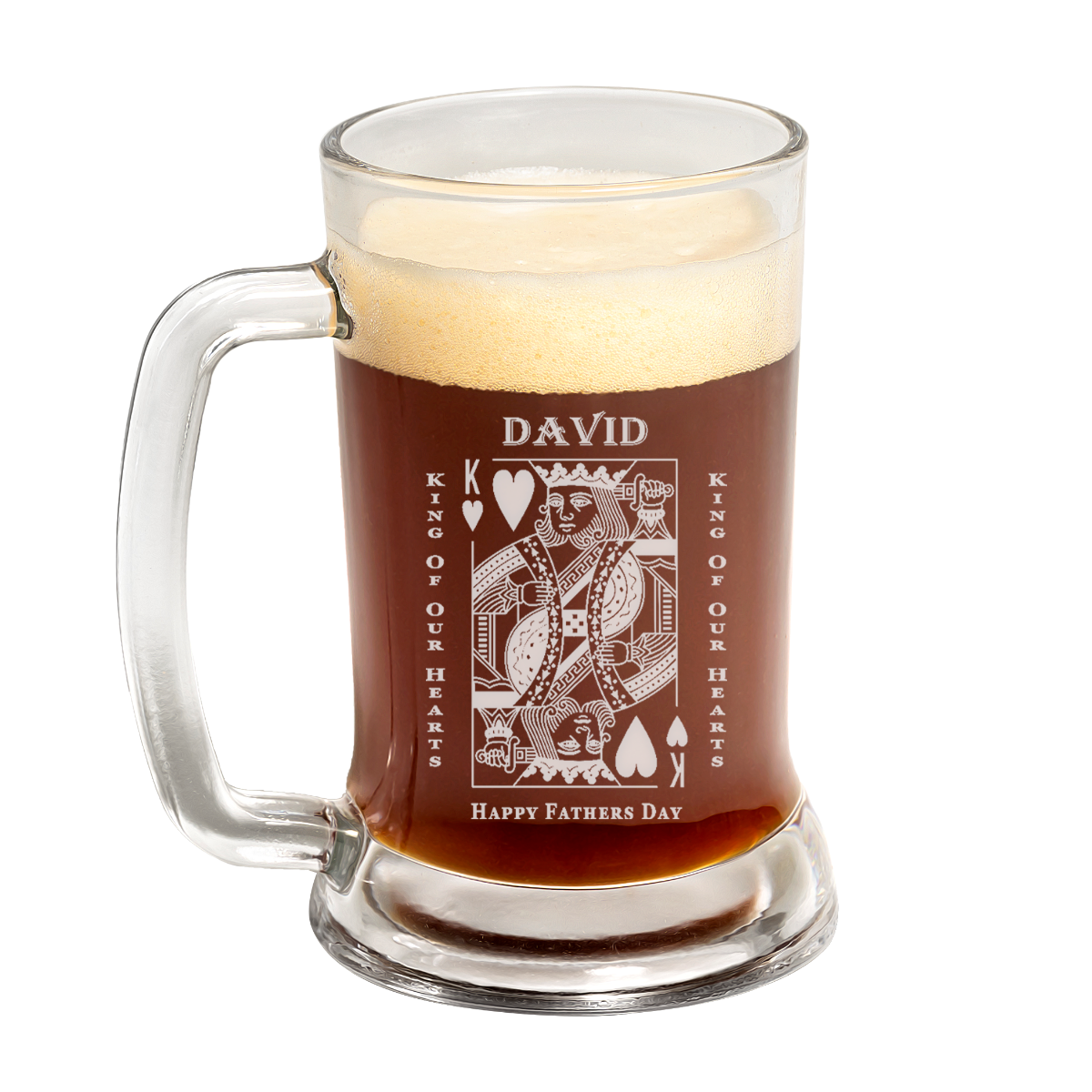 King Of Hearts Father's Day Beer Mug