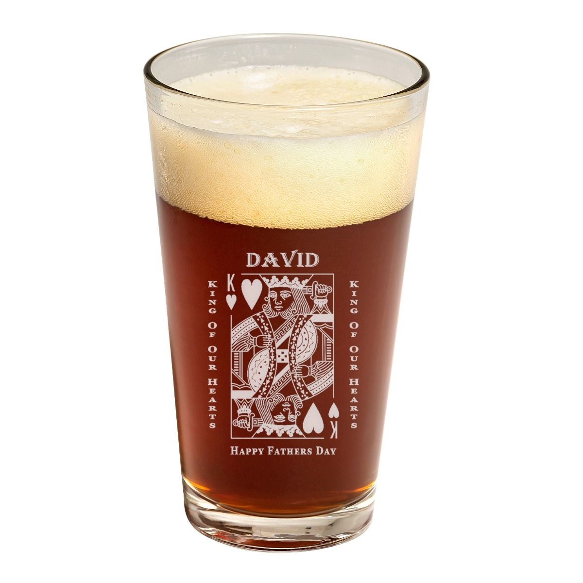 King Of Hearts Father's Day Pint Glass