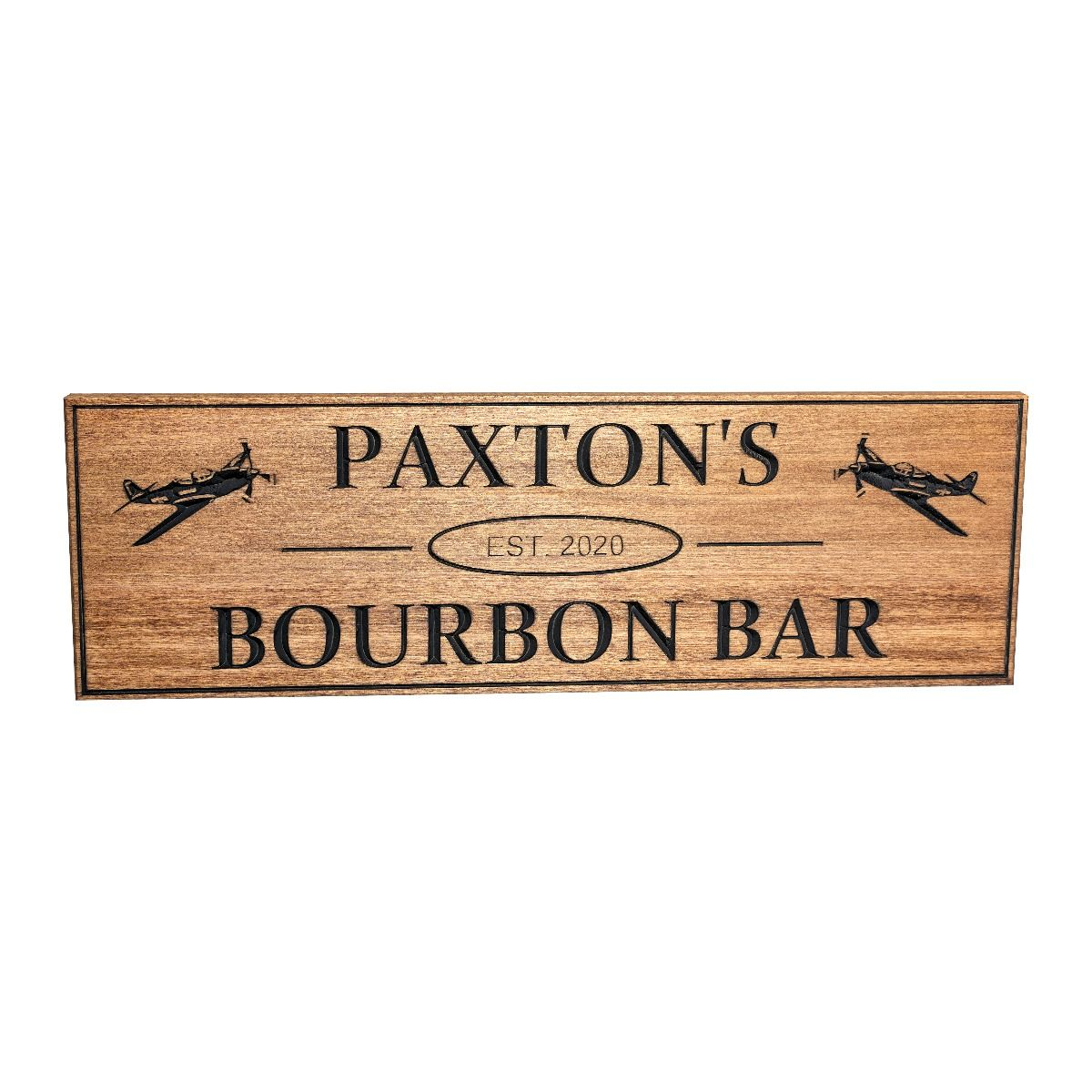 Personalized Airplane Bar Sign