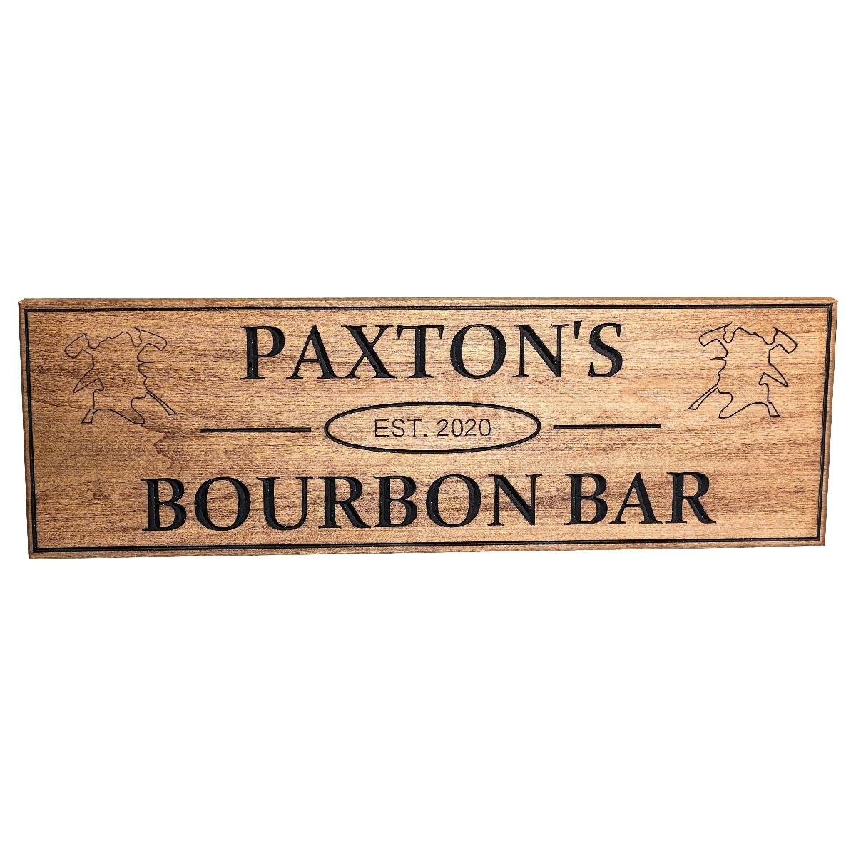 Personalized Firefighter Bar Sign
