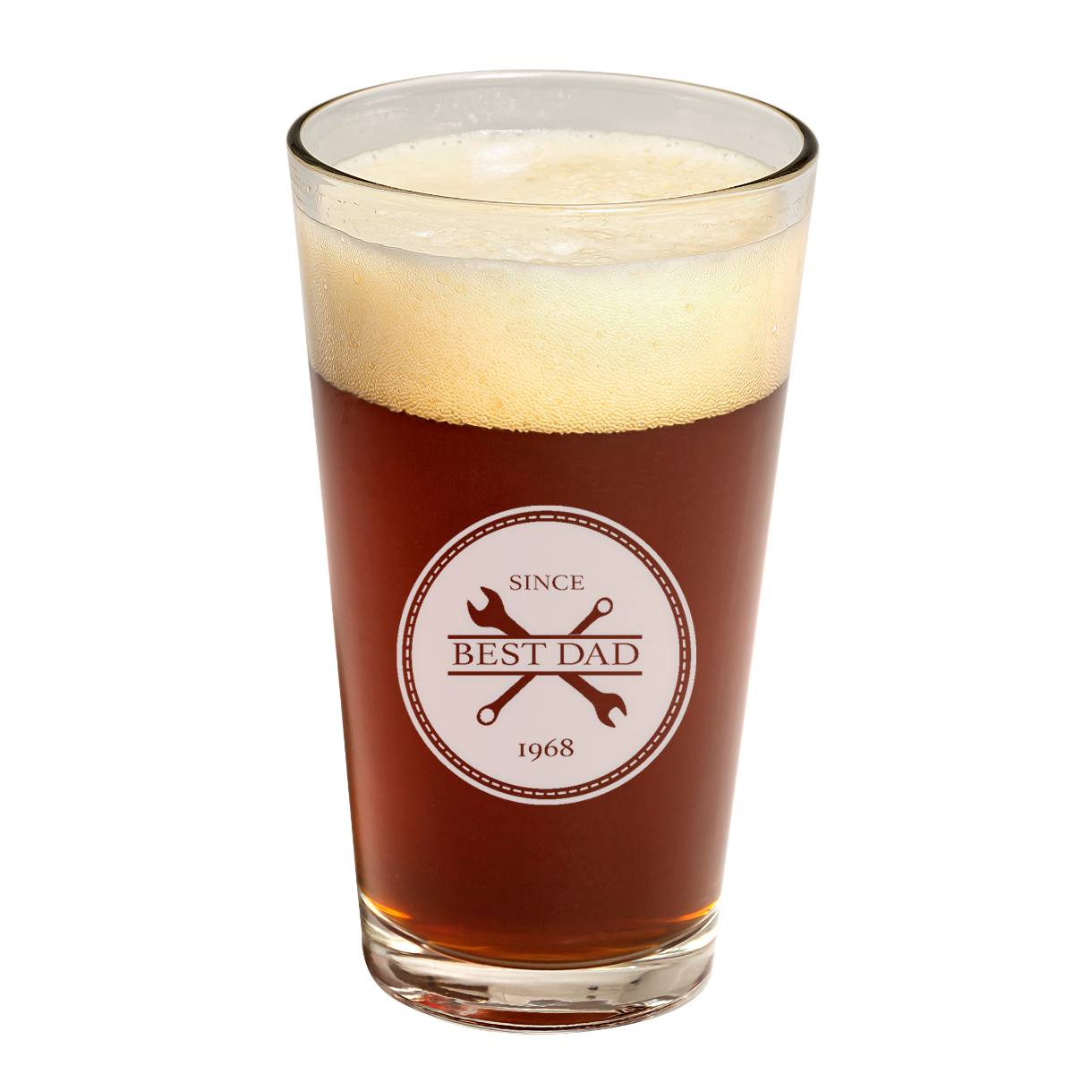 Father's Day Best Dad Pint Glass