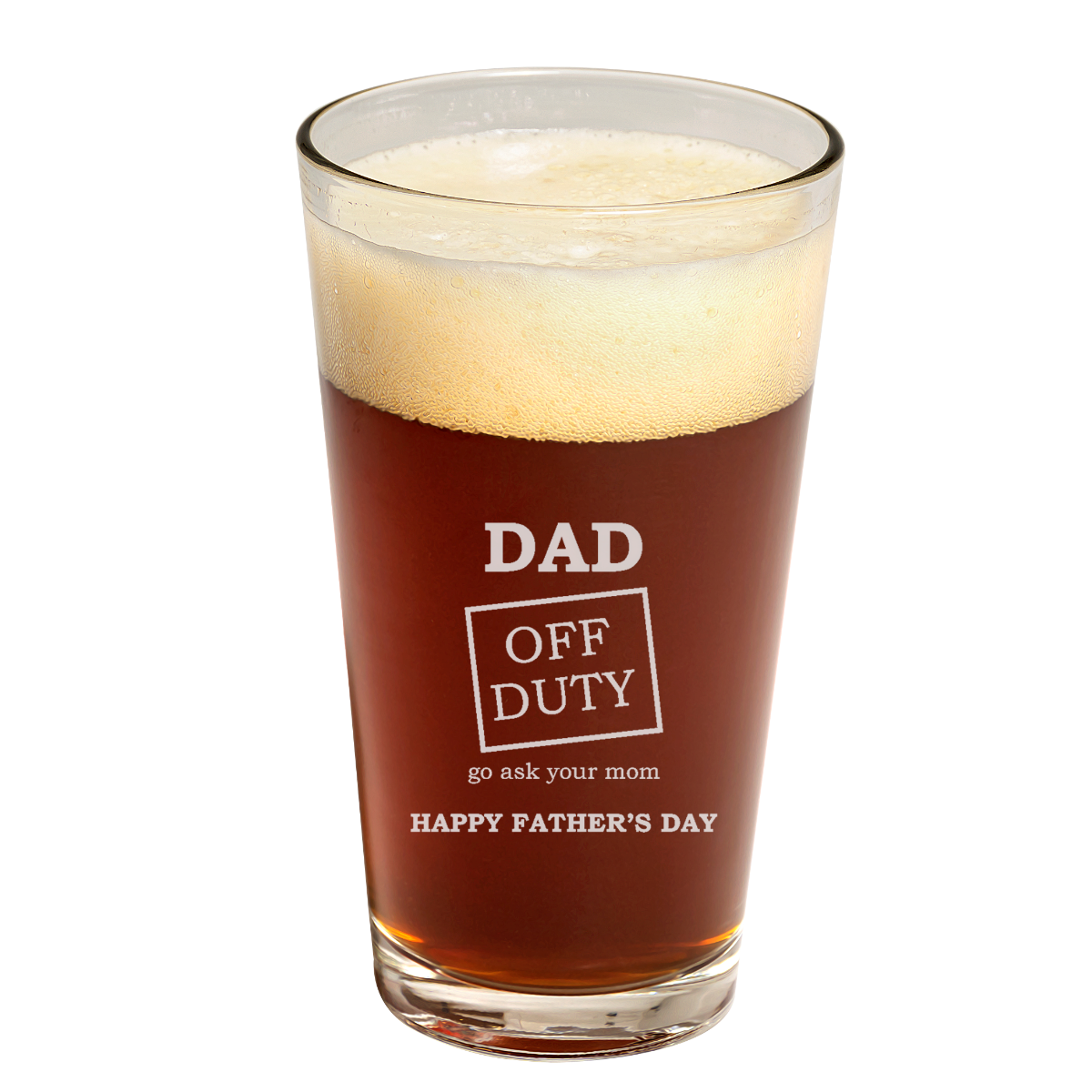 Dad Off Duty father's day Pint Glass