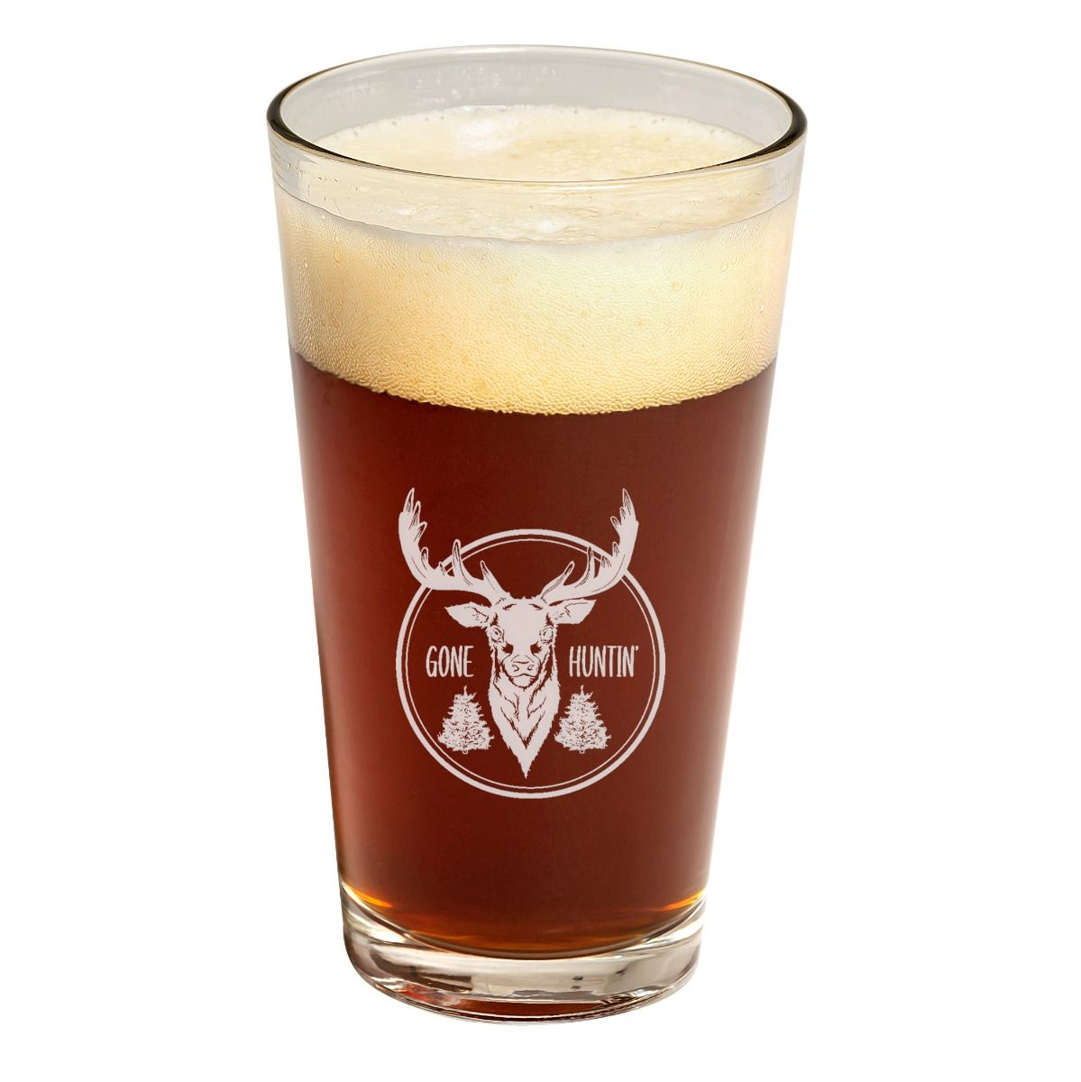 Gone Hunting Father's Day Pint Glass