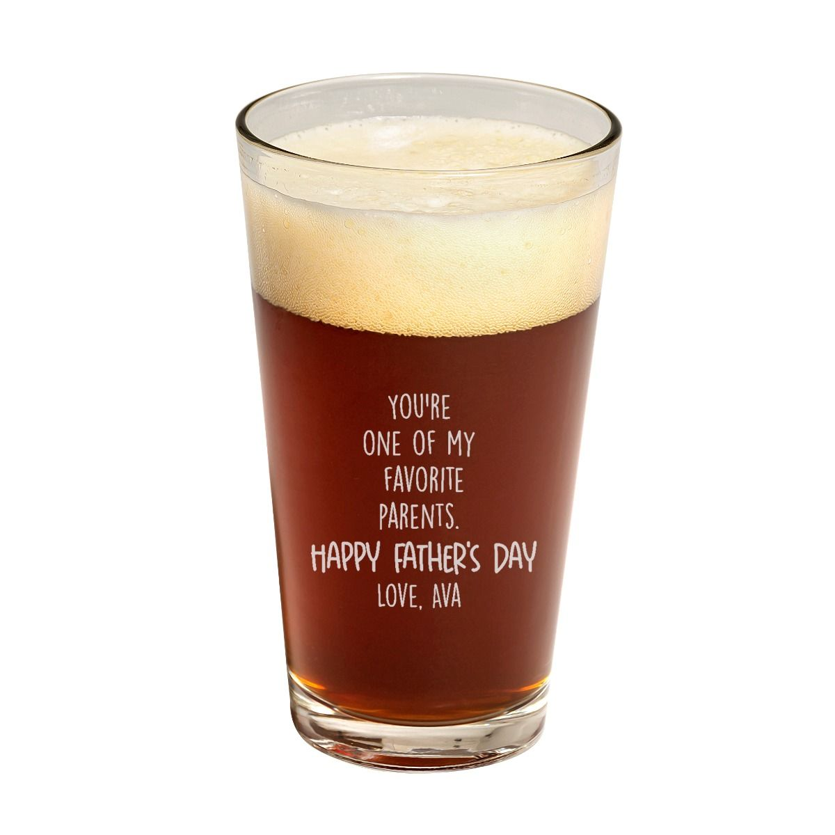 Fav Parent Father's Day Pint Glass