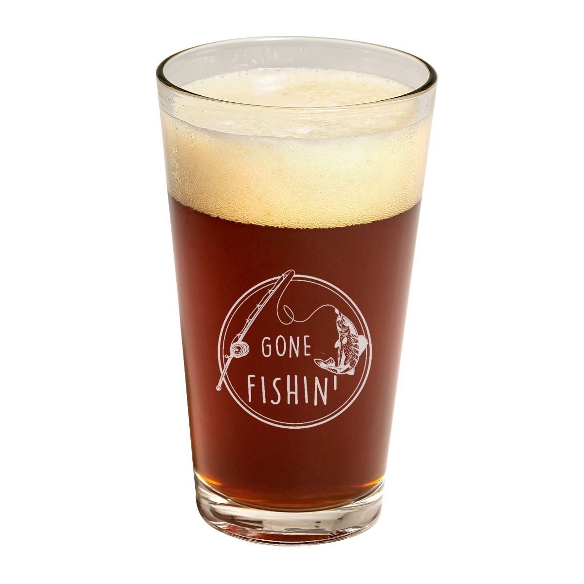 Gone Fishin' Father's Day Pint Glass