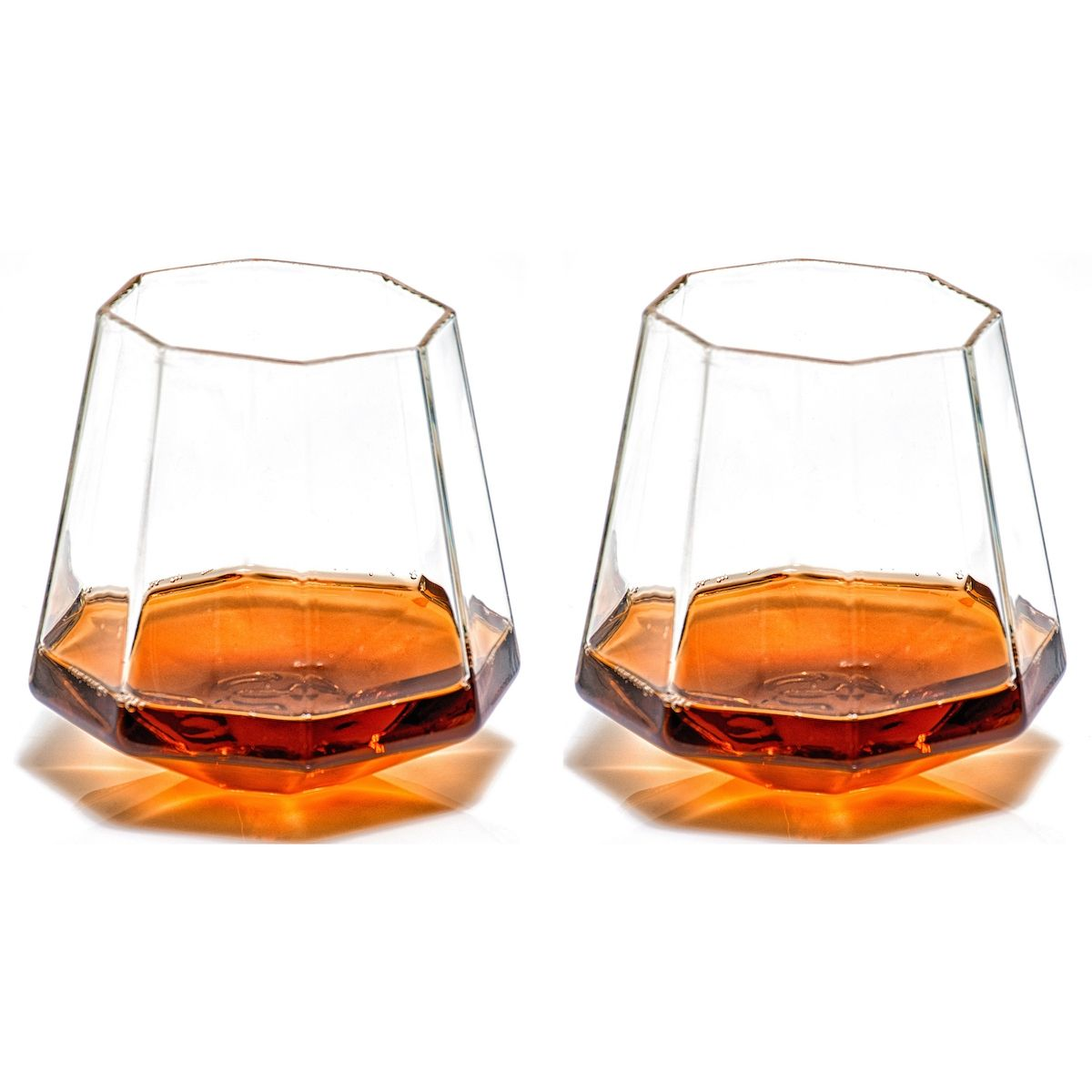 Prestige Decanter diamond-Shaped bourbon glasses