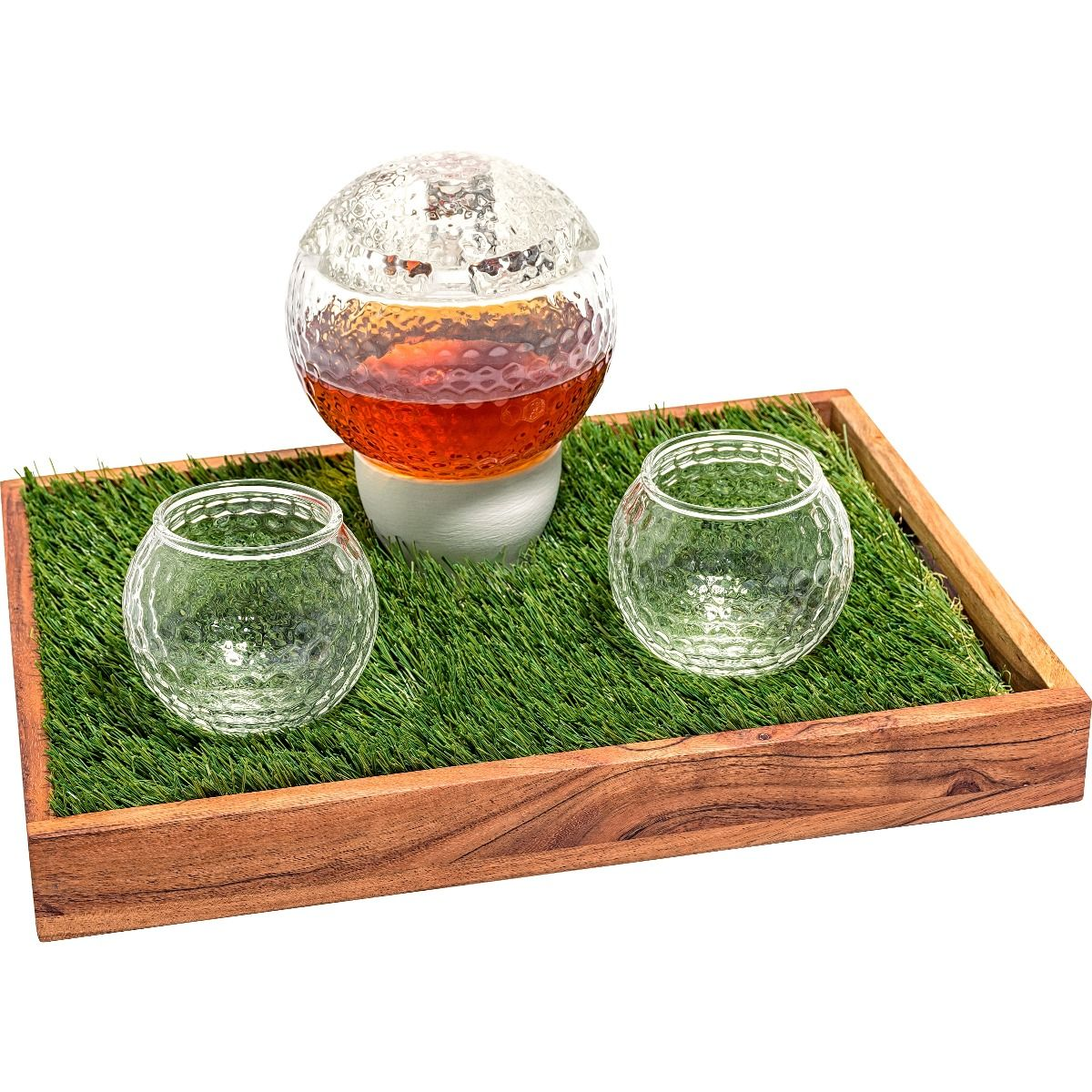 Prestige Decanters golf whiskey decanter set