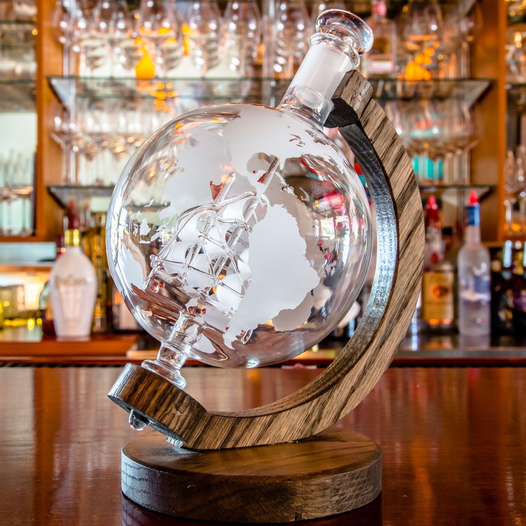 Prestige Etched Globe Decanter