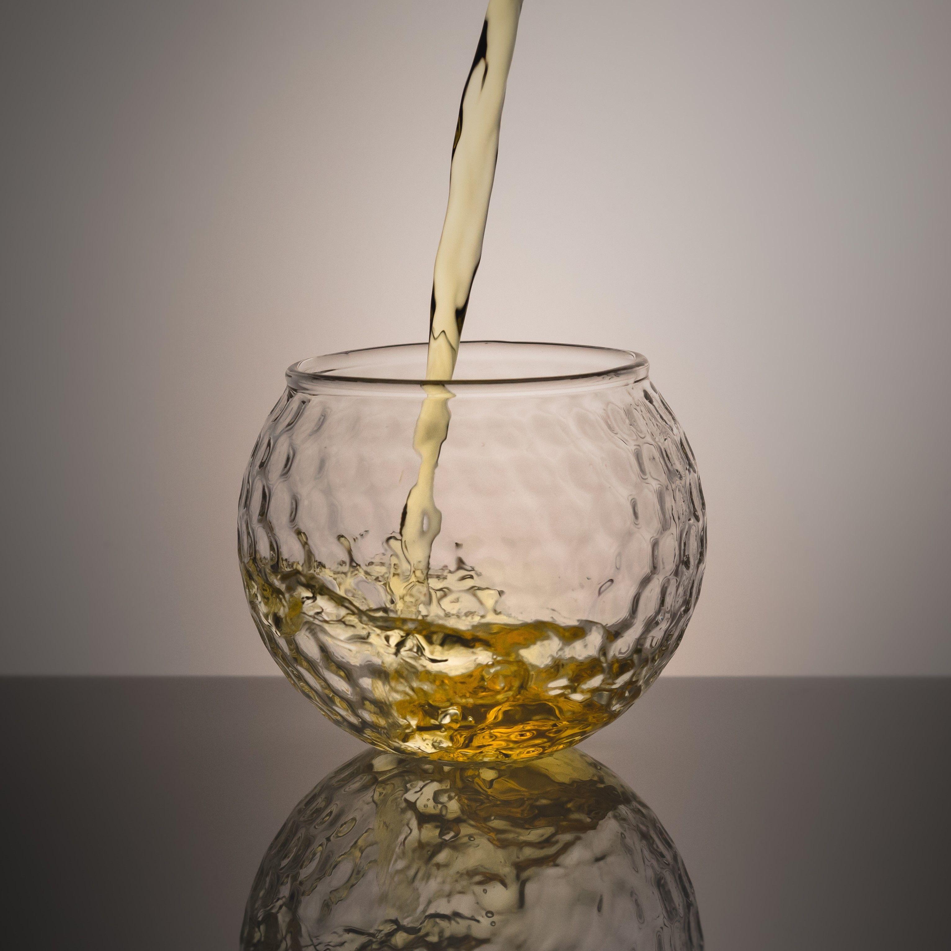 Golf Ball Shaped Whiskey Glasses for Golf Gift