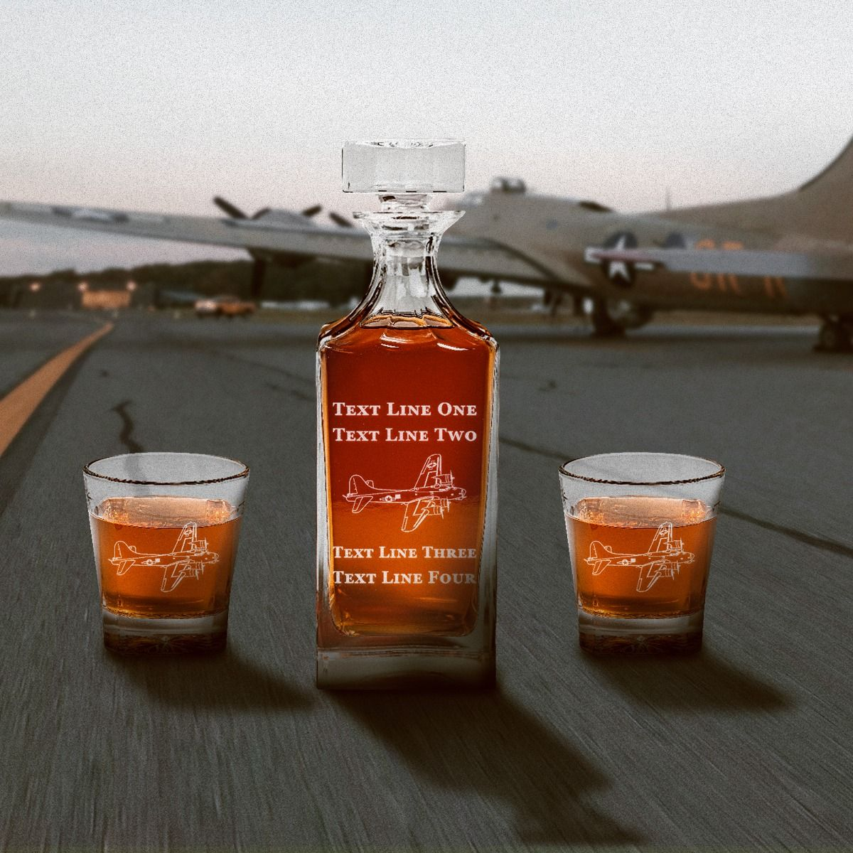 Pretty Image of B17 Flyboy Decanter Set