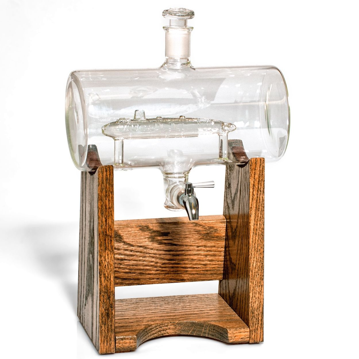 Submarine Decanter with Spigot