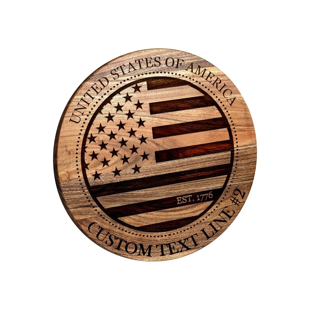 USA Flag Round Bar Sign